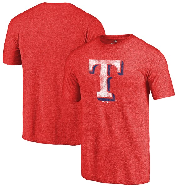 competitive price 4c3db 3d982 Texas Rangers Distressed Team Tri-Blend T-Shirt - Heathered Red