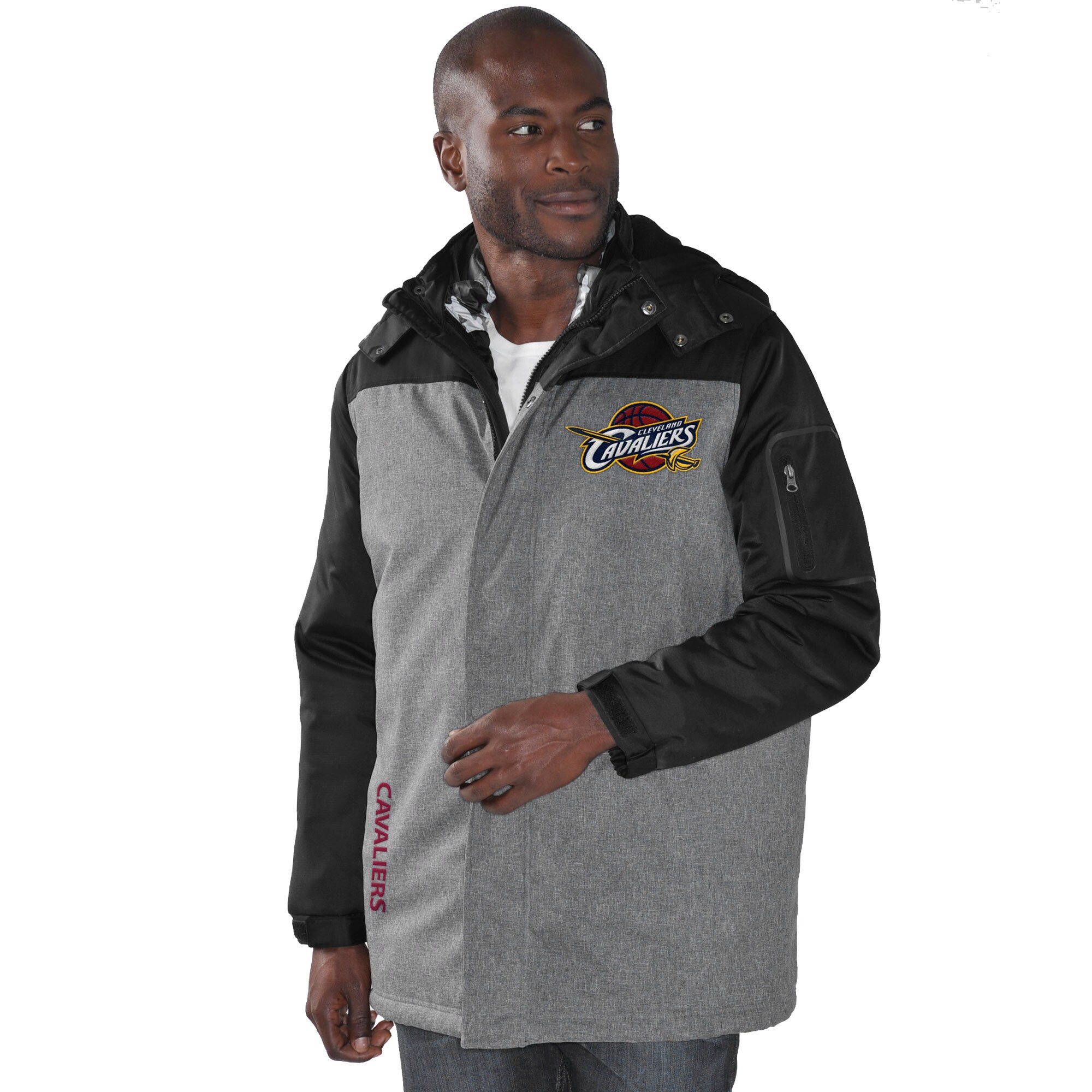 Cleveland Cavaliers G-III Sports by Carl Banks 3-in-1 Systems Jacket - Charcoal/Camo