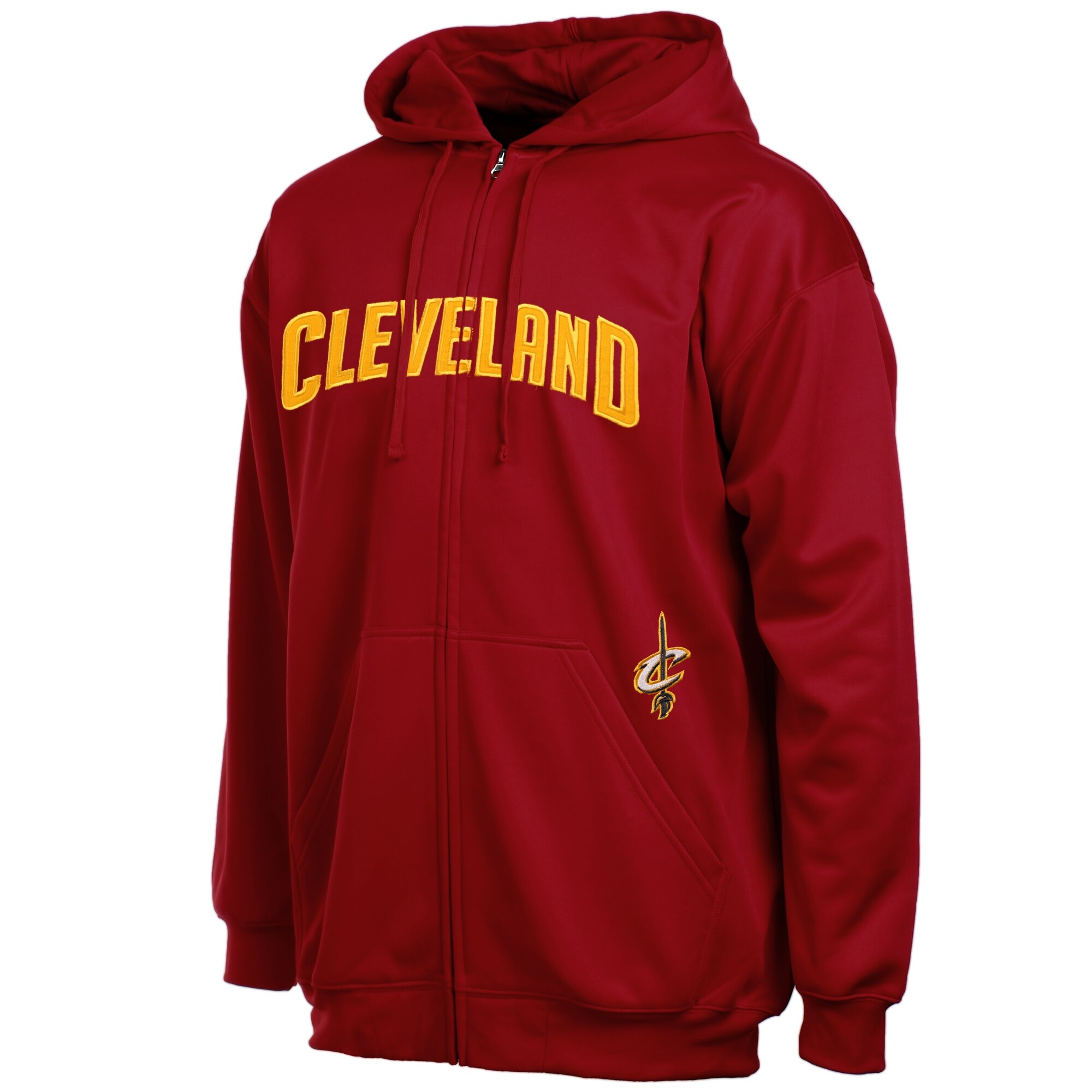 Cleveland Cavaliers Majestic Big & Tall Delay Full-Zip Hoodie - Wine