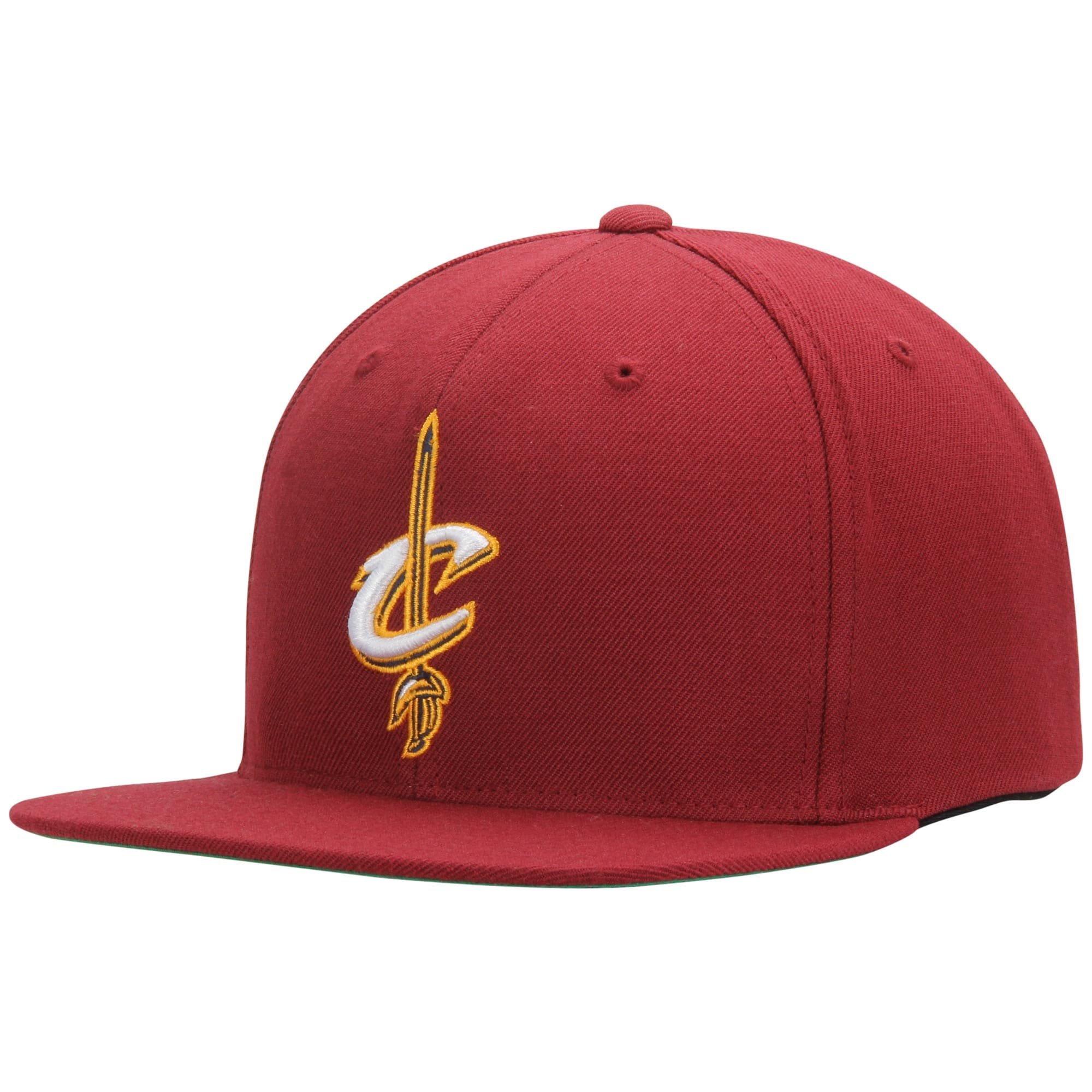 Cleveland Cavaliers Mitchell & Ness Current Logo Wool Solid Snapback Adjustable Hat - Wine