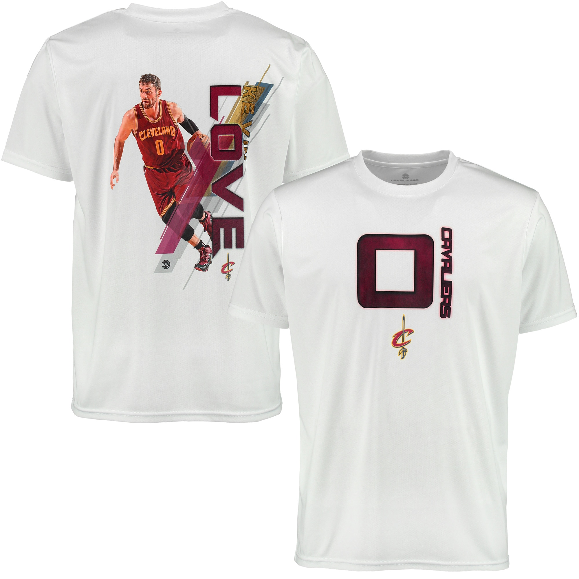 Kevin Love Cleveland Cavaliers Levelwear Fade Away T-Shirt - White