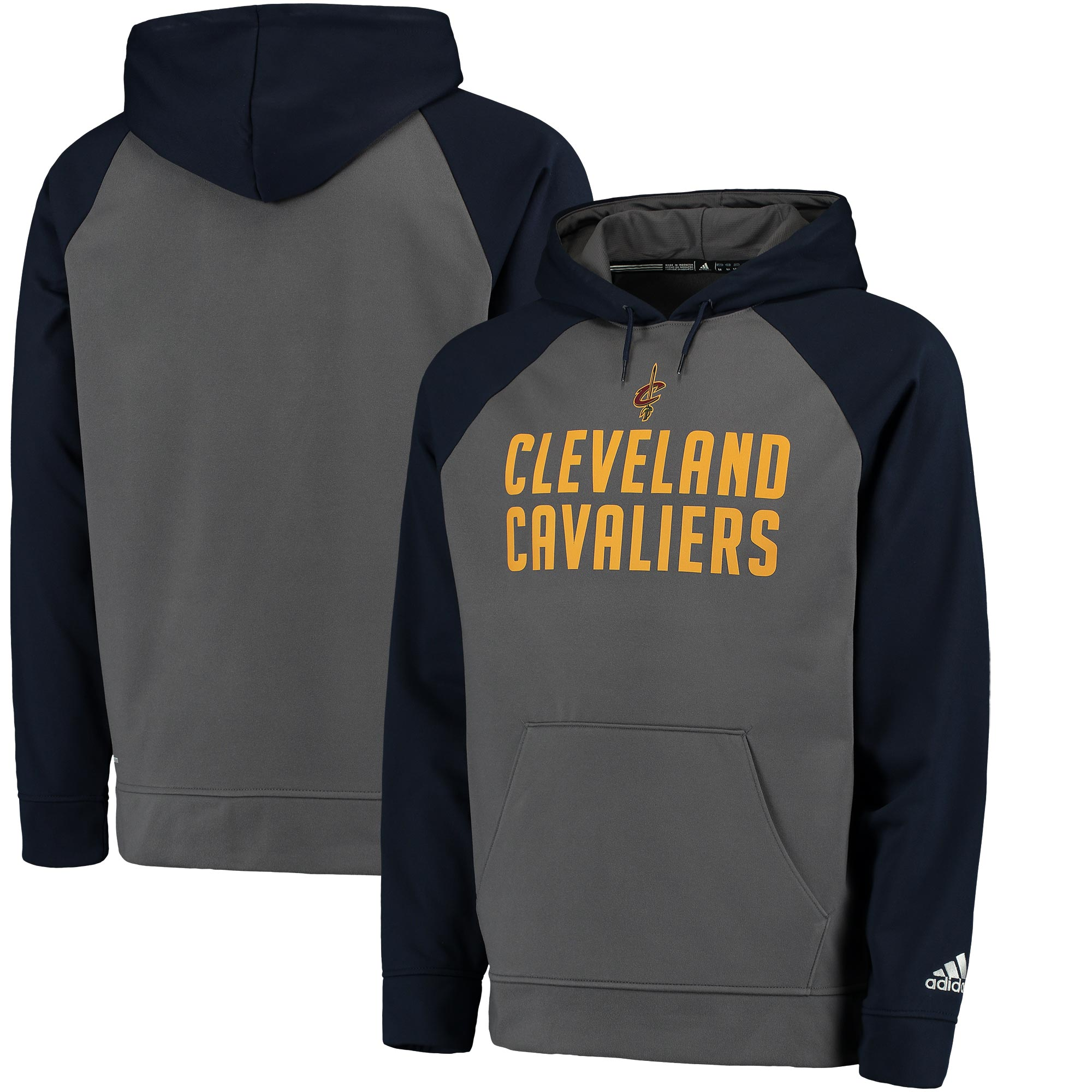 Cleveland Cavaliers adidas 2016 Tip-Off Pullover Hoodie - Gray/Navy