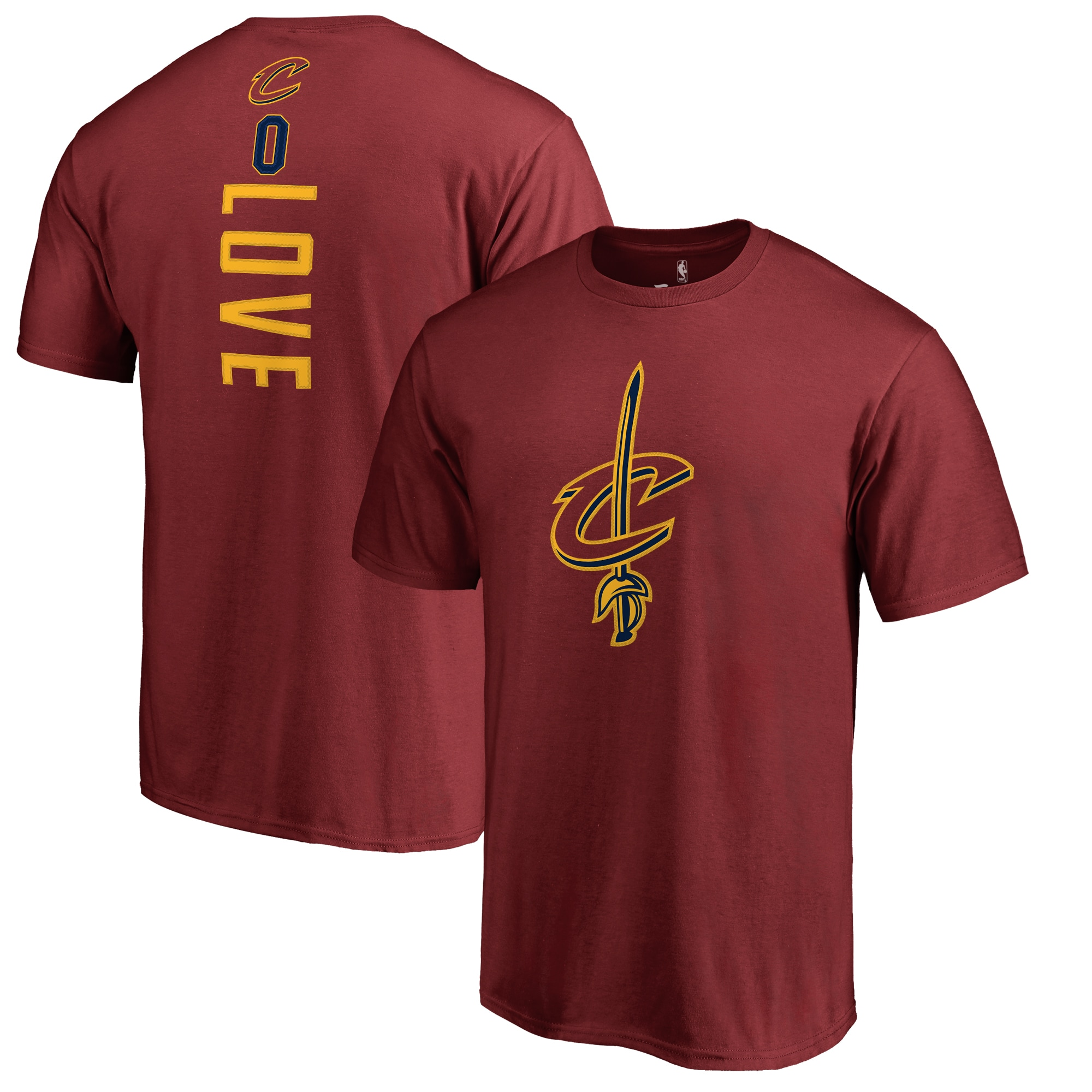 Kevin Love Cleveland Cavaliers Backer T-Shirt - Wine