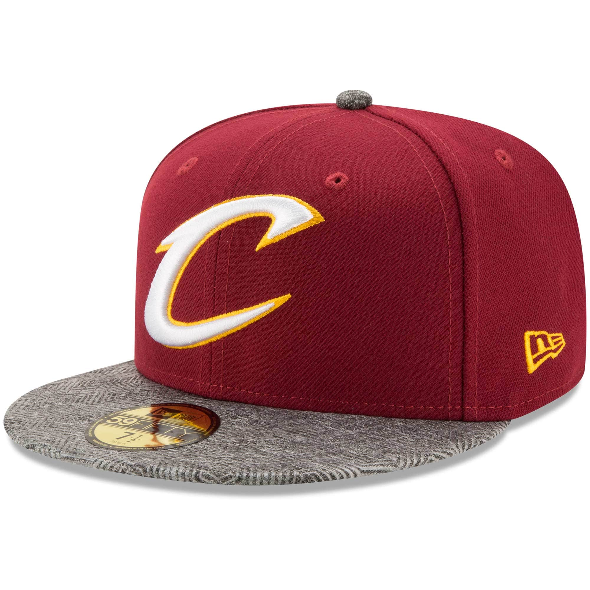 Cleveland Cavaliers New Era Gripping Vize 59FIFTY Fitted Hat - Wine