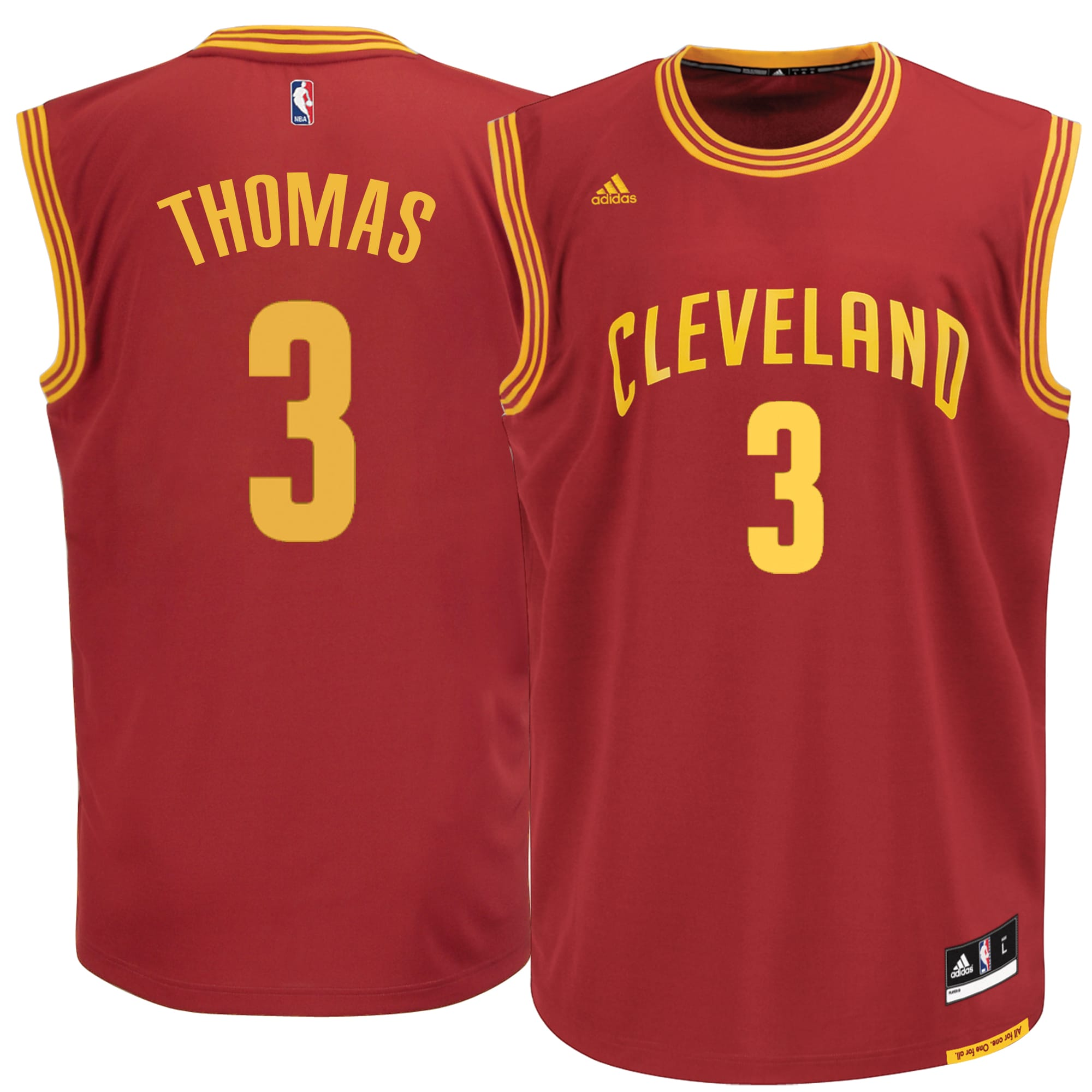 Isaiah Thomas Cleveland Cavaliers adidas Road Replica Jersey - Burgundy