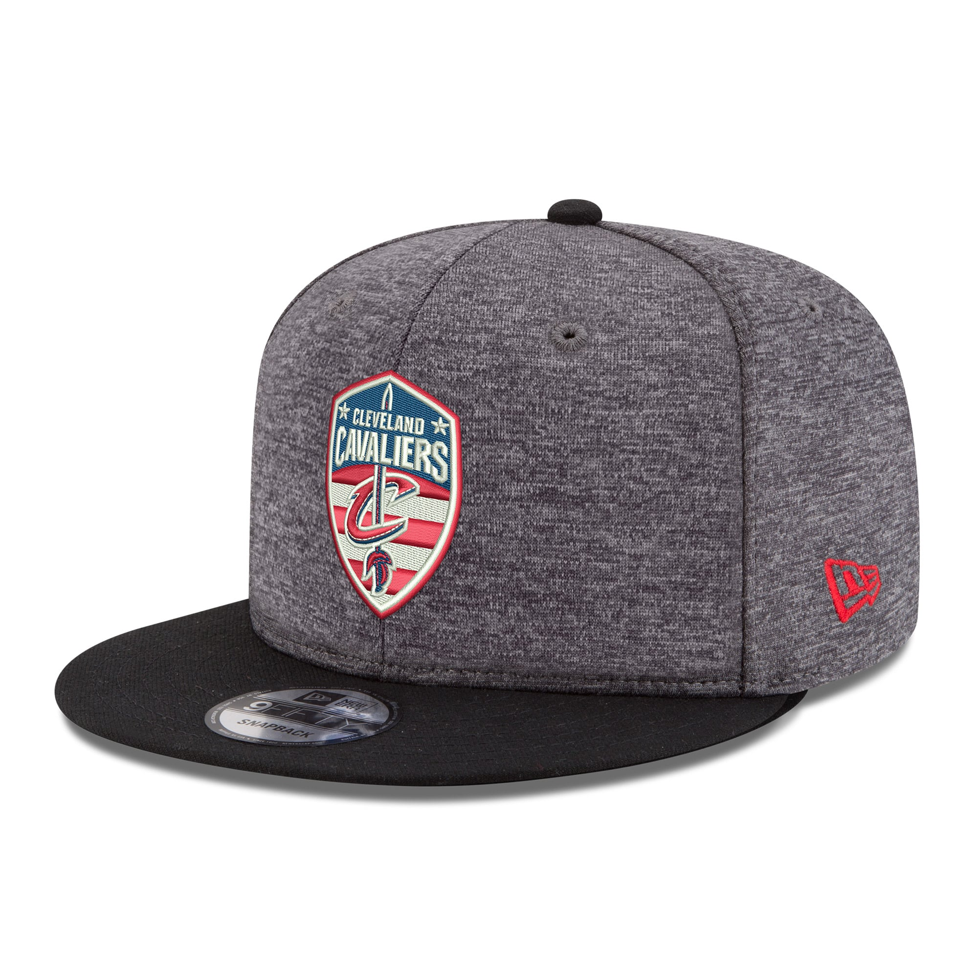 Cleveland Cavaliers New Era Hoops for Troops 9FIFTY Adjustable Snapback Hat - Heather Gray
