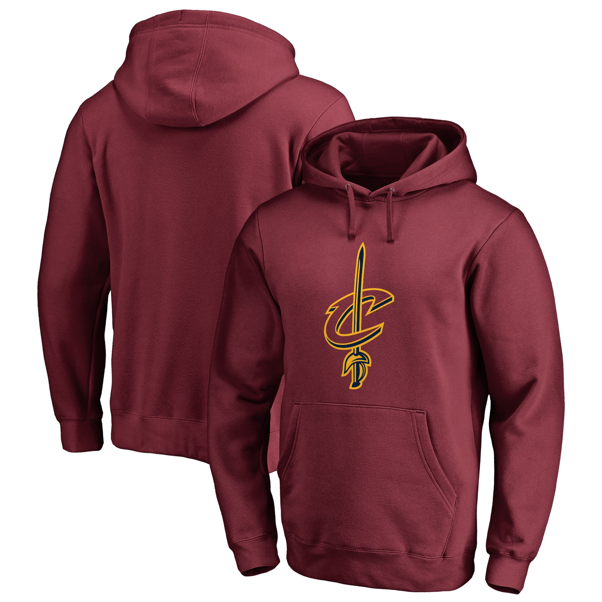 Cleveland Cavaliers Fanatics Branded Primary Logo Big & Tall Pullover Hoodie - Wine