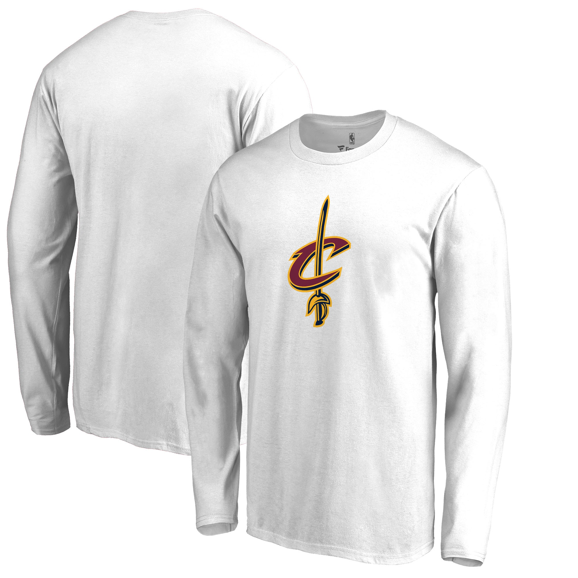 Cleveland Cavaliers Fanatics Branded Primary Team Logo Long Sleeve T-Shirt - White