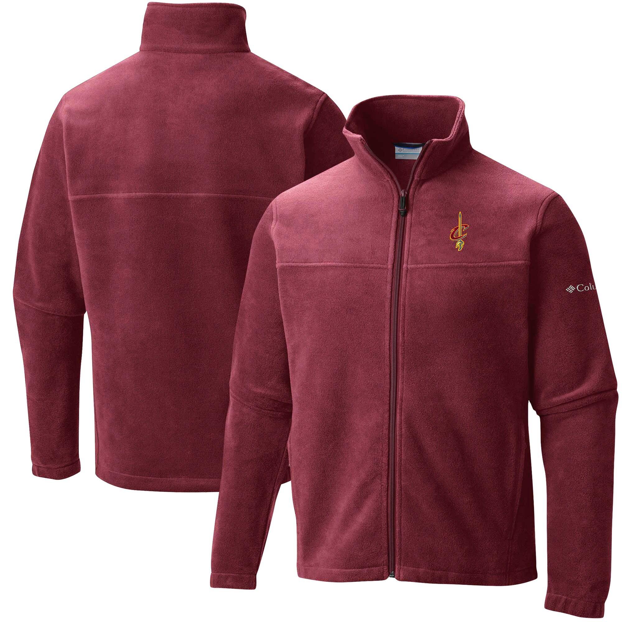 Cleveland Cavaliers Columbia Flanker Fleece Full-Zip Jacket - Wine