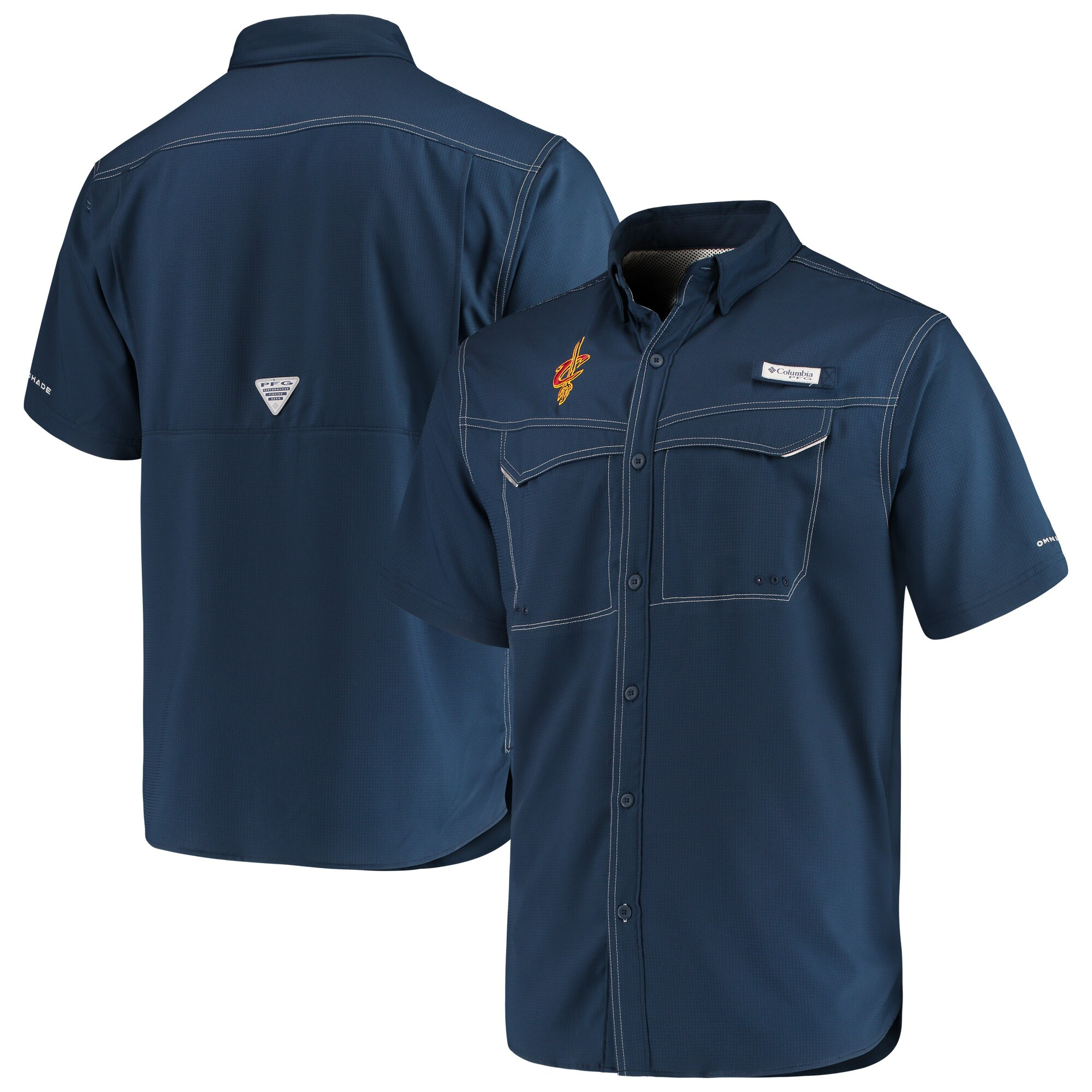 Cleveland Cavaliers Columbia Low Drag Offshore Omni-Shade Button-Up Shirt - Navy