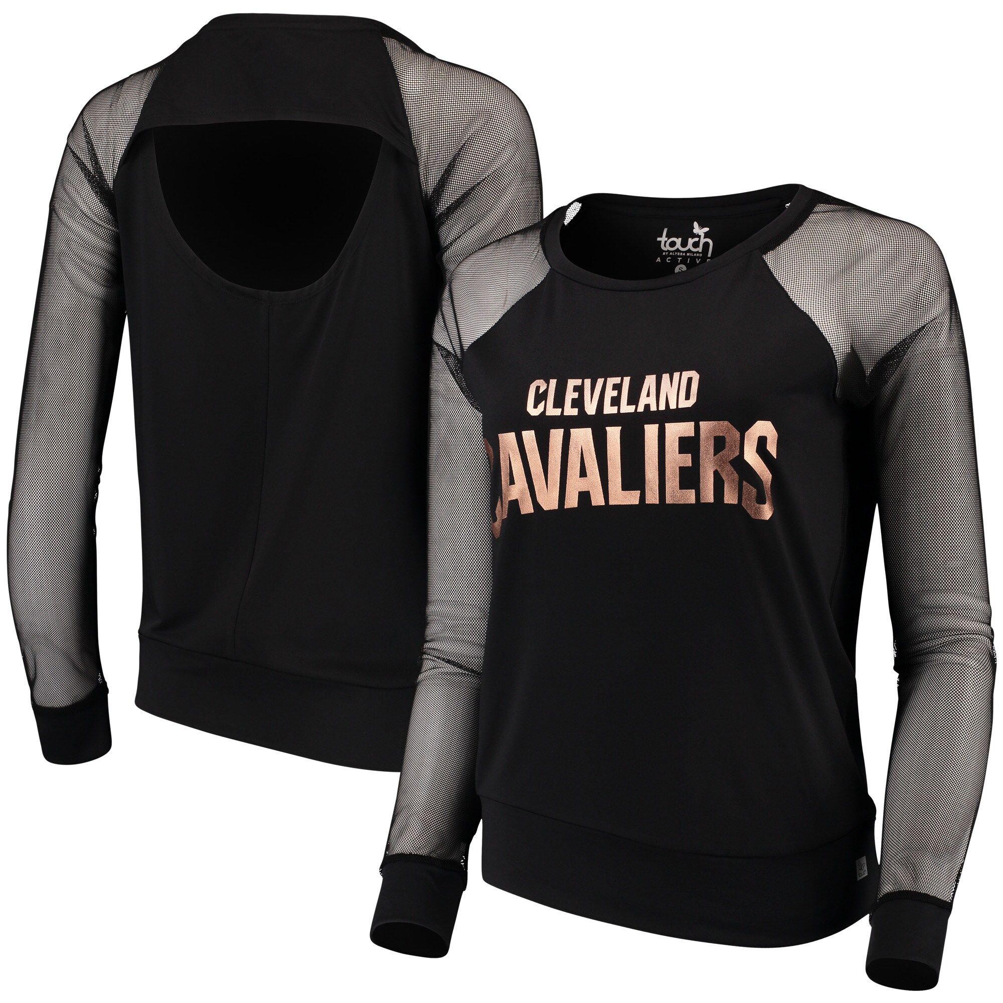 Cleveland Cavaliers Touch by Alyssa Milano Women's Make the Cut Long Sleeve Top - Black