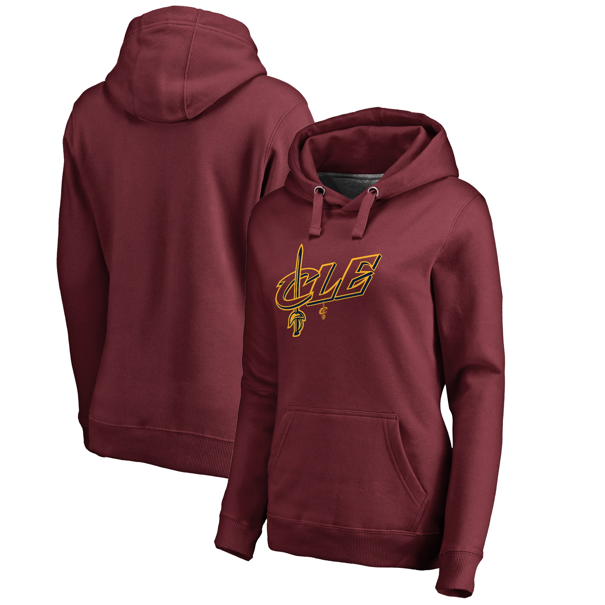 Cleveland Cavaliers Fanatics Branded Women's CLE Hometown Collection Pullover Hoodie - Wine