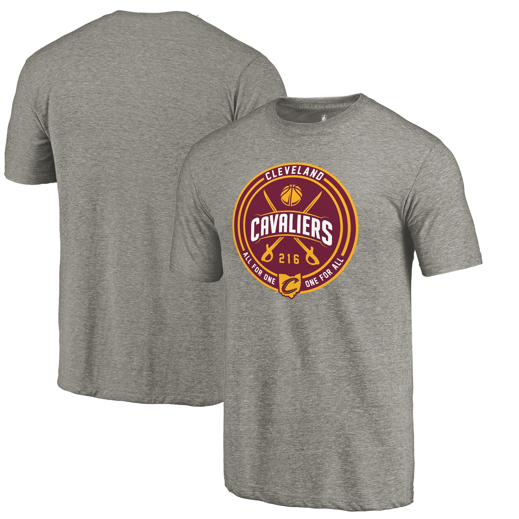 Cleveland Cavaliers Fanatics Branded One for All Hometown Collection Tri-Blend T-Shirt - Gray