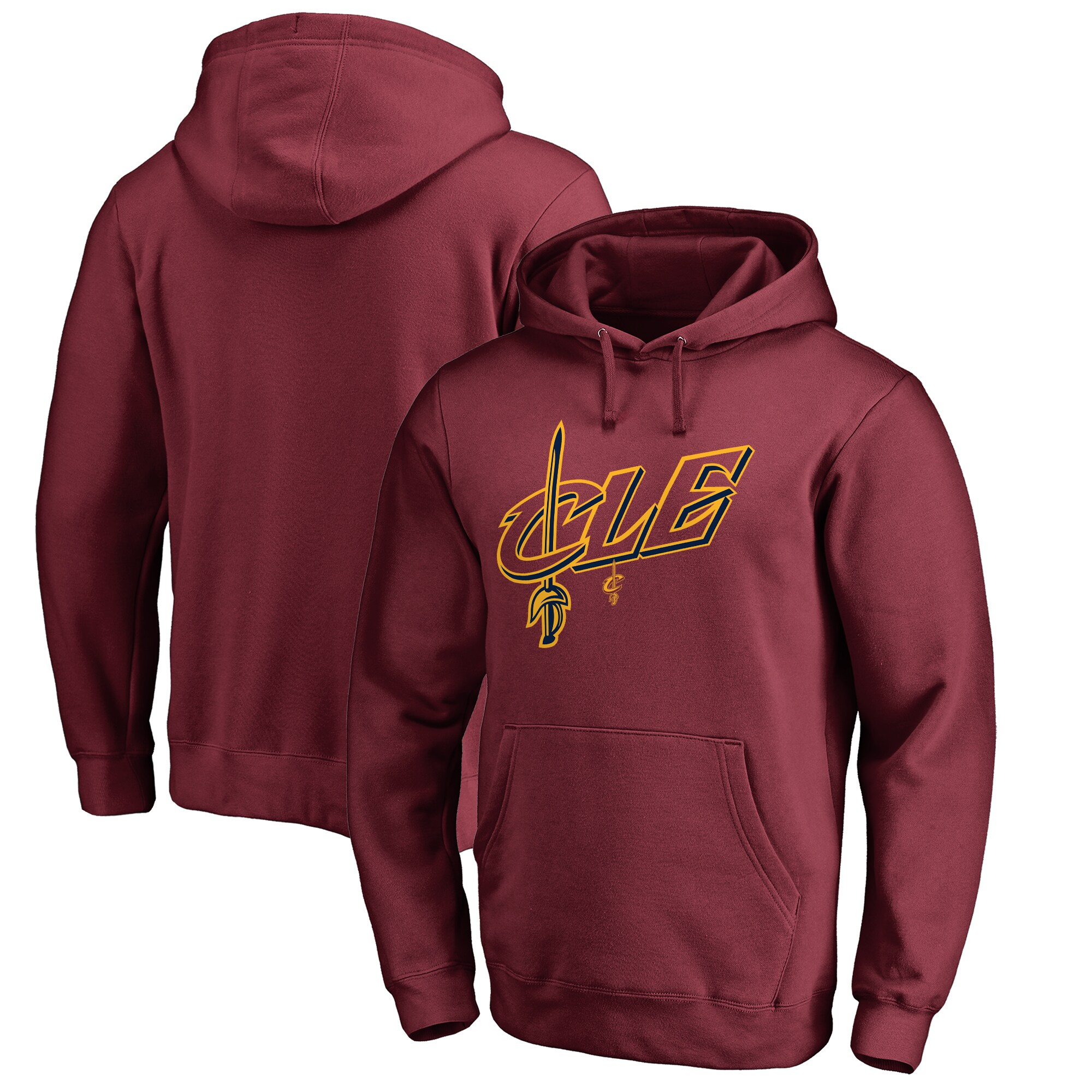 Cleveland Cavaliers Fanatics Branded Big & Tall CLE Hometown Collection Pullover Hoodie - Wine
