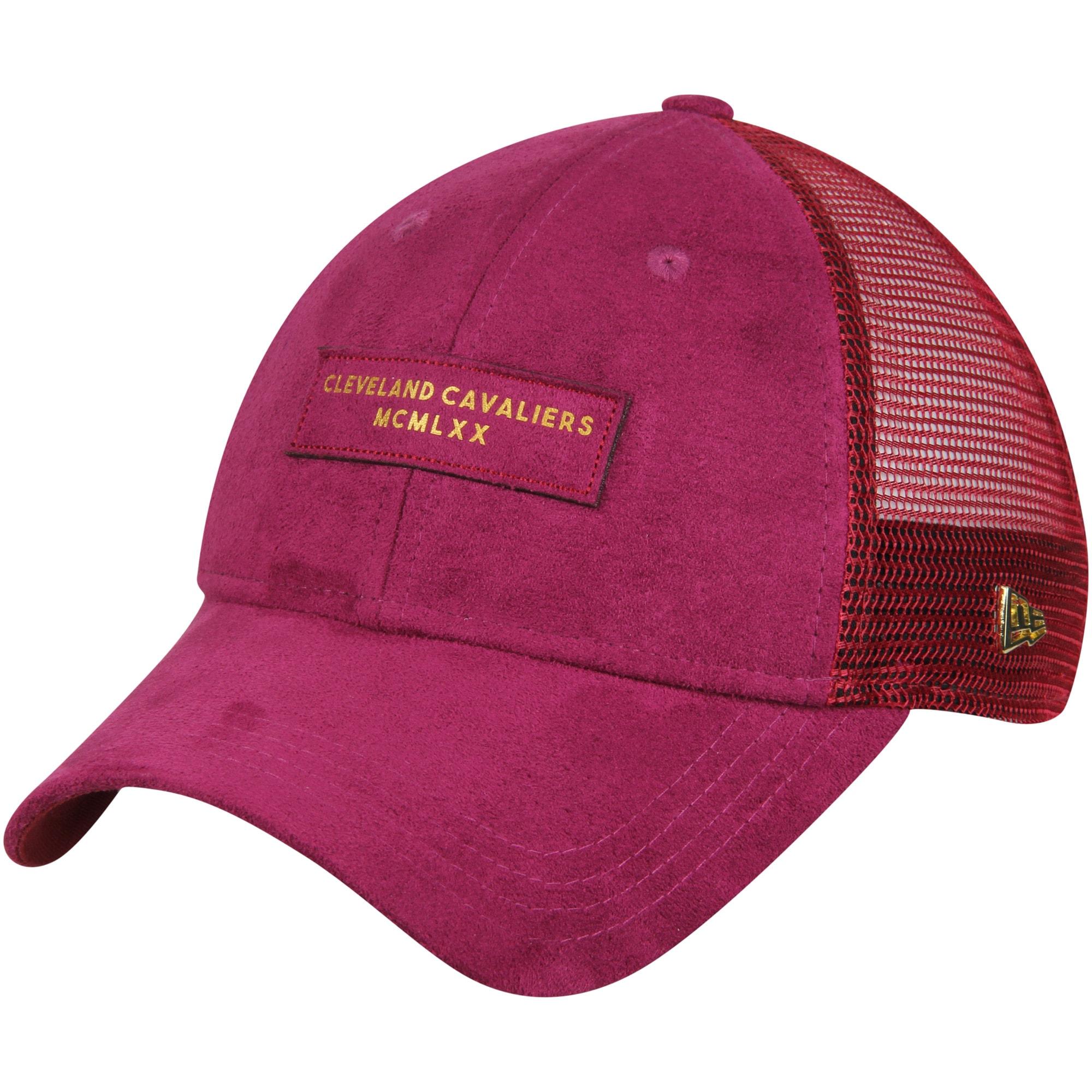 Cleveland Cavaliers New Era Trucker Black Label Series 9TWENTY Adjustable Hat - Wine