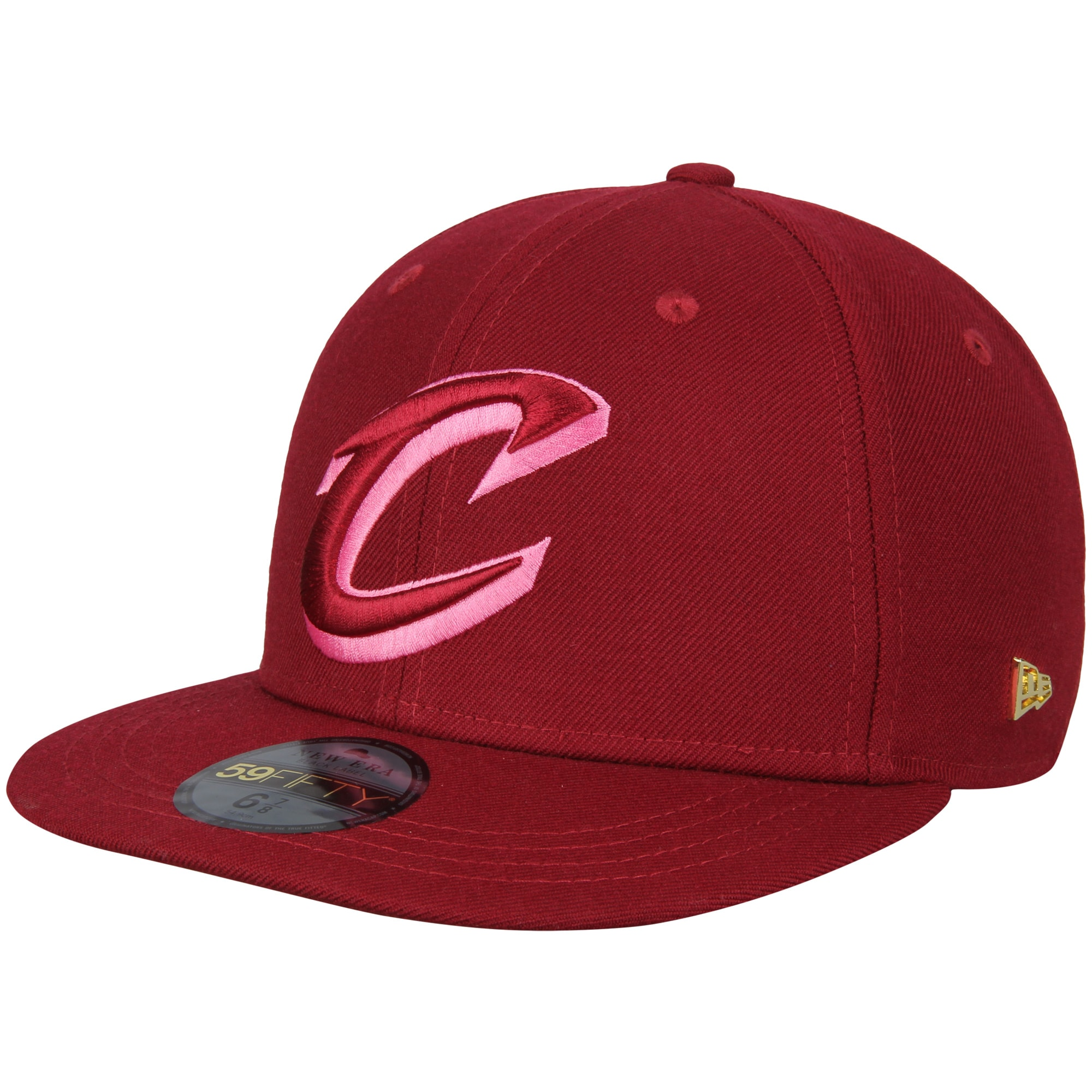 Cleveland Cavaliers New Era Essential Black Label Series 59FIFTY Fitted Hat - Maroon