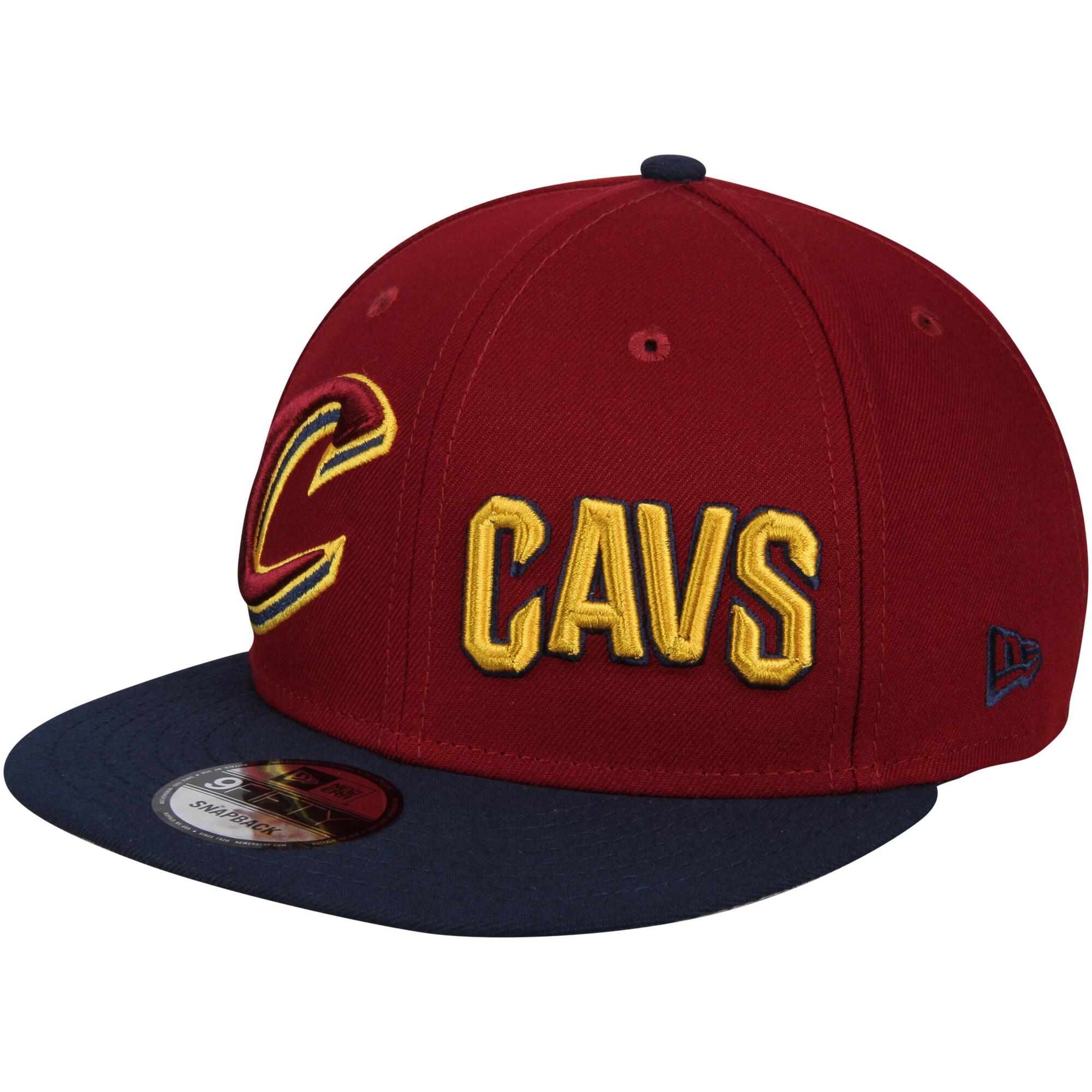 Cleveland Cavaliers New Era Y2K Double Whammy 9FIFTY Adjustable Snapback Hat - Wine/Navy