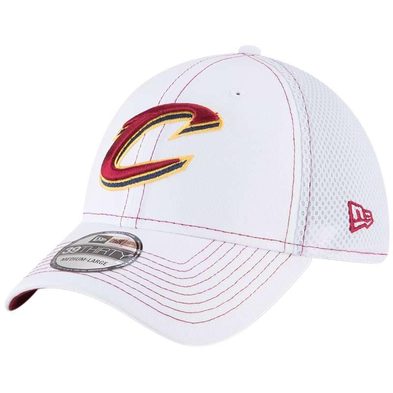 Cleveland Cavaliers New Era Team Turn Neo 39THIRTY Flex Hat - White