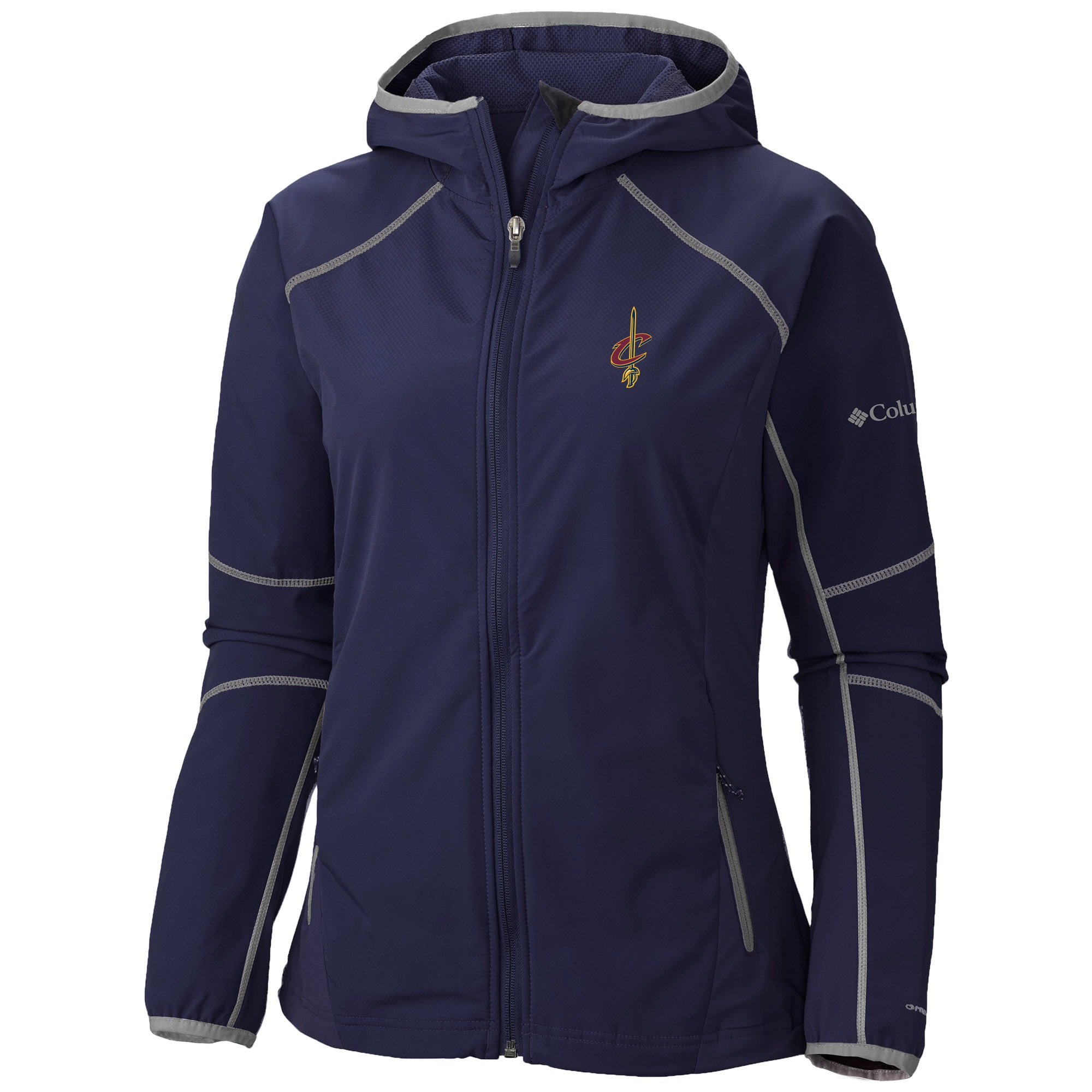 Cleveland Cavaliers Columbia Women's Sweet As Softshell Hooded Full-Zip Jacket - Navy