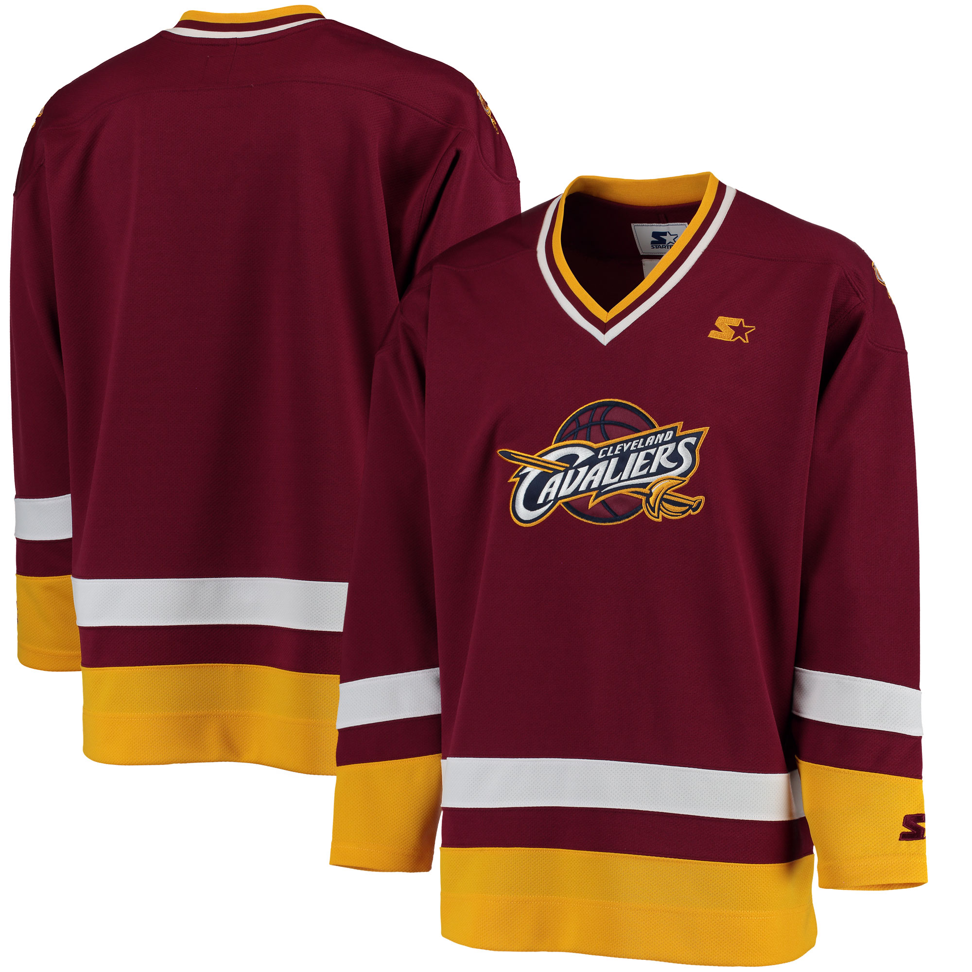 Cleveland Cavaliers G-III Sports by Carl Banks Hockey Jersey - Wine/Gold