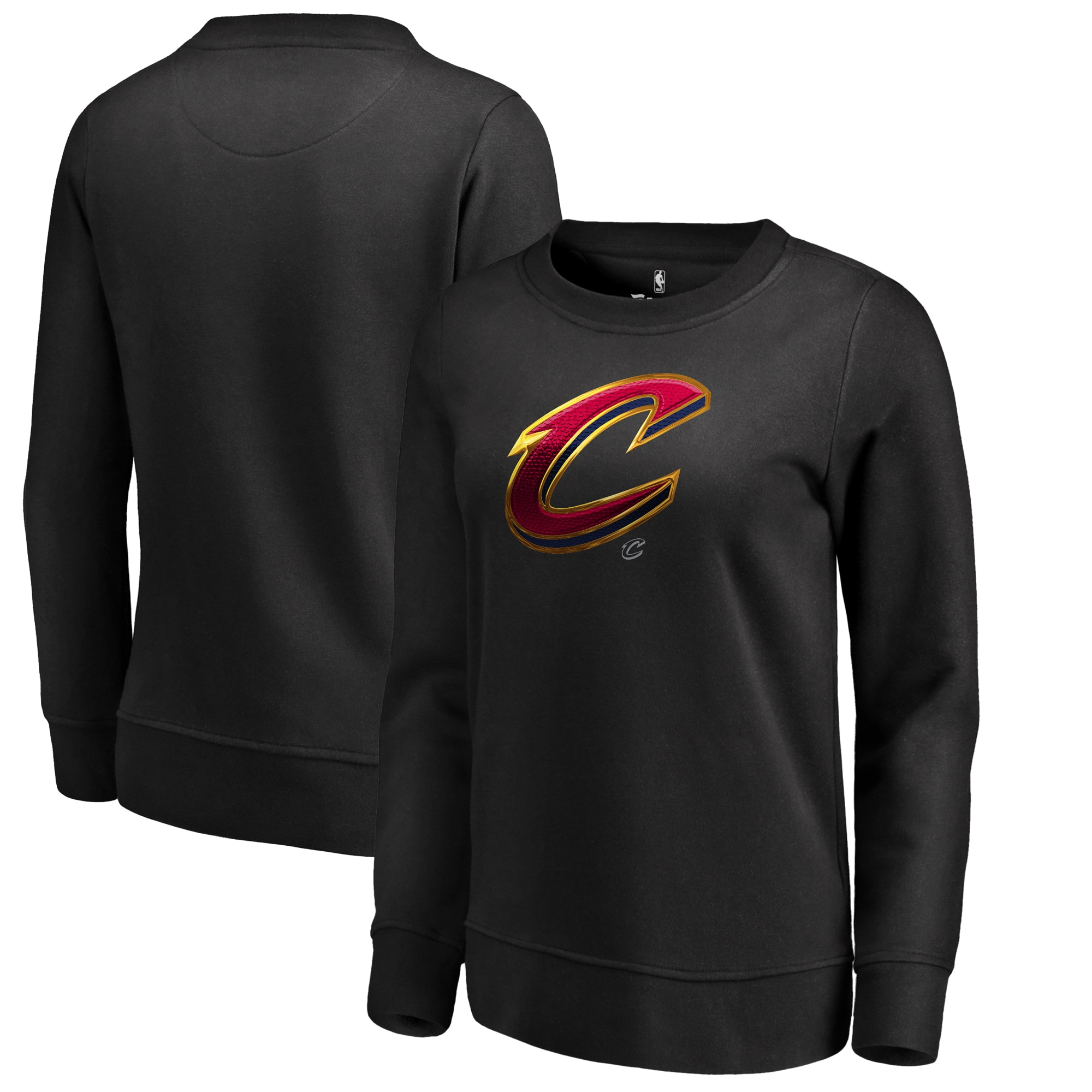 Cleveland Cavaliers Fanatics Branded Women's Midnight Mascot Pullover Sweatshirt - Black