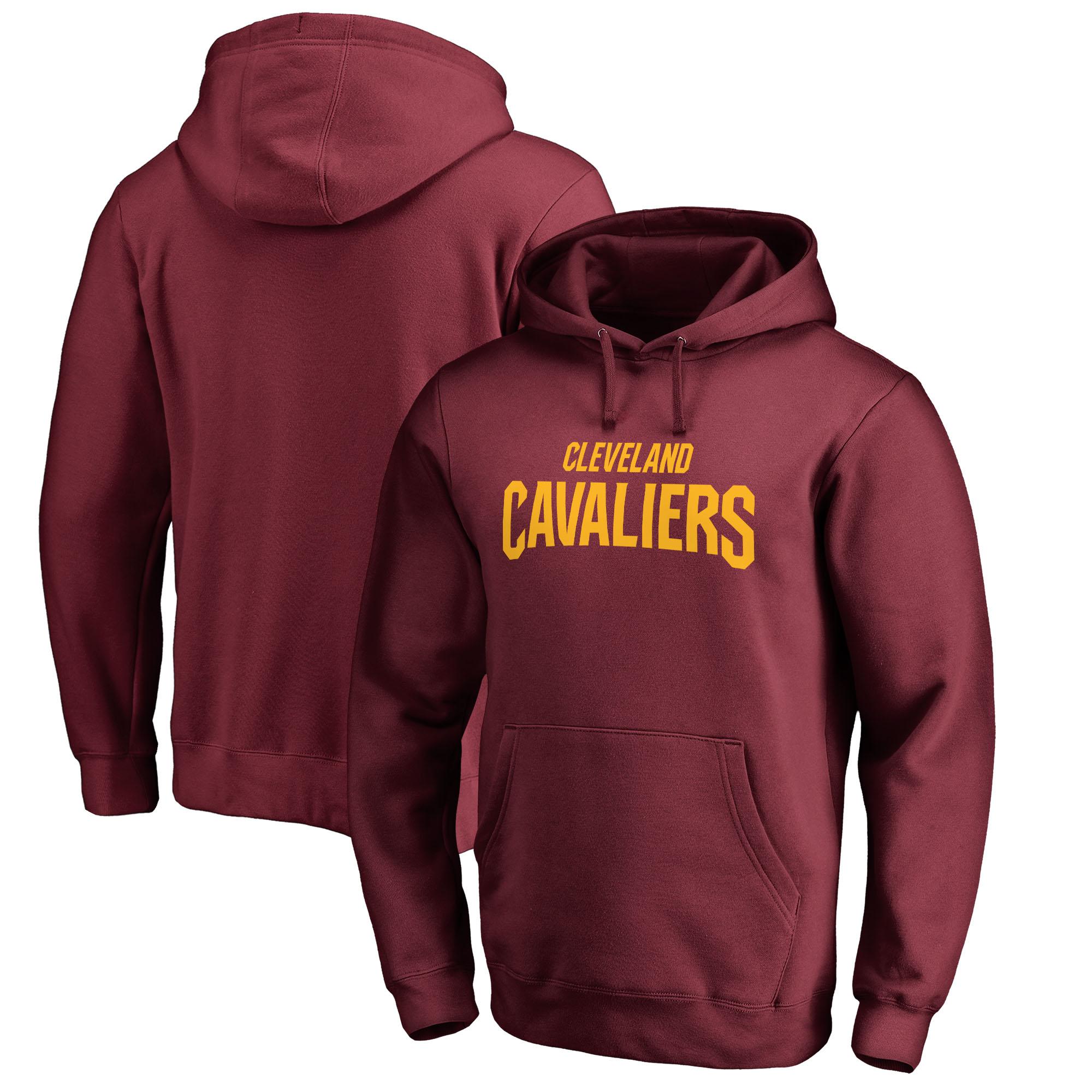 Cleveland Cavaliers Fanatics Branded Wordmark Pullover Hoodie - Wine
