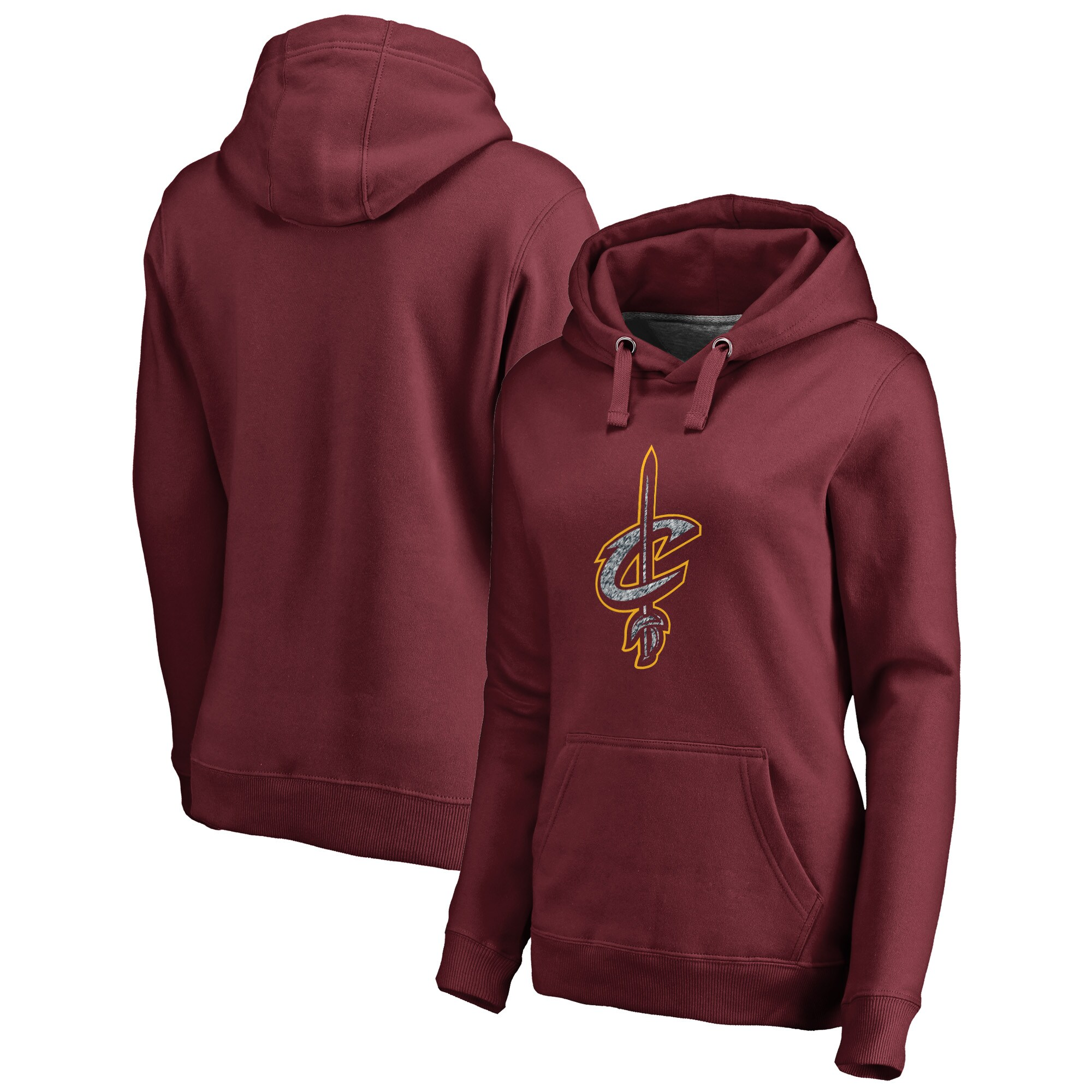 Cleveland Cavaliers Fanatics Branded Women's Static Logo Pullover Hoodie - Wine