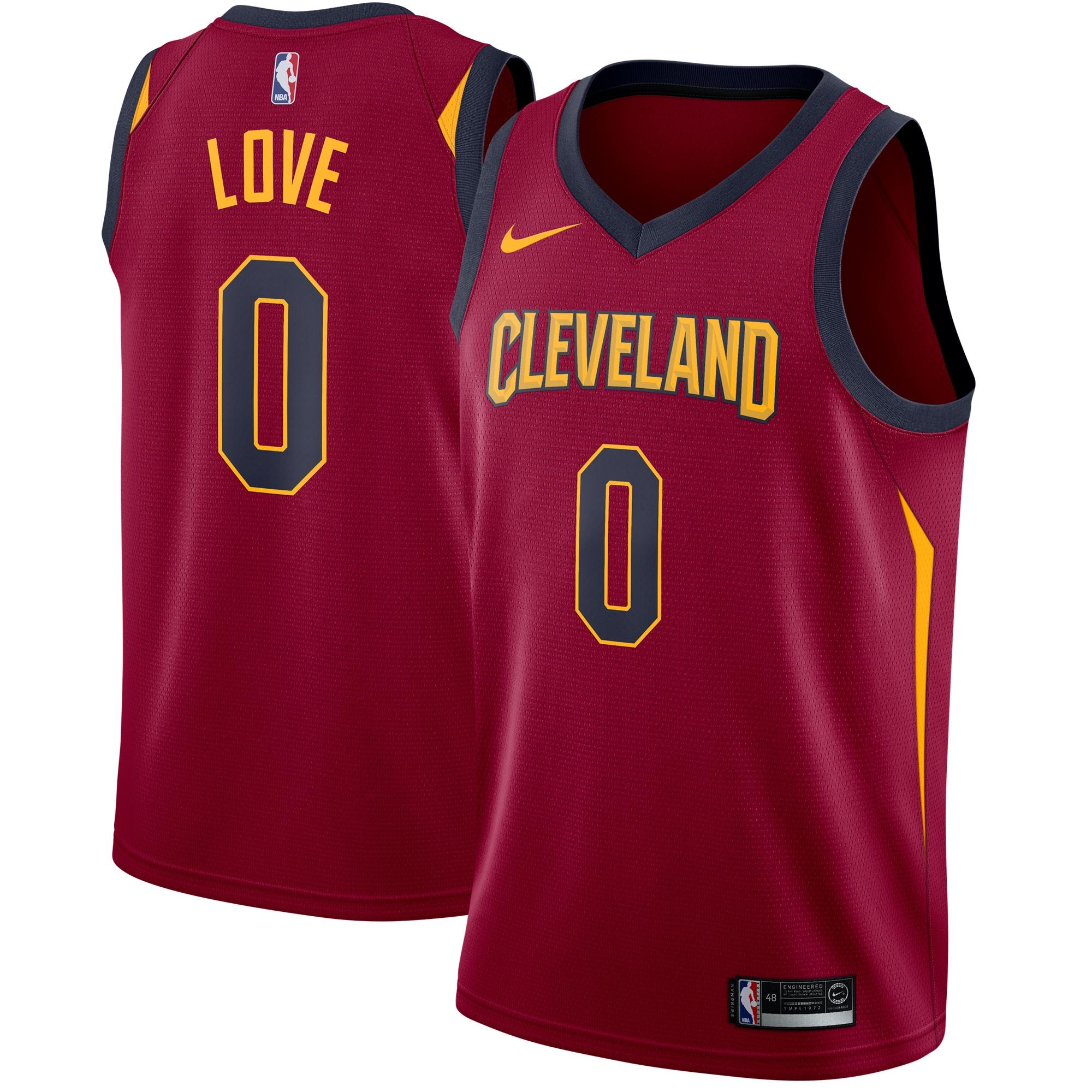 Kevin Love Cleveland Cavaliers Nike Swingman Jersey Maroon - Icon Edition