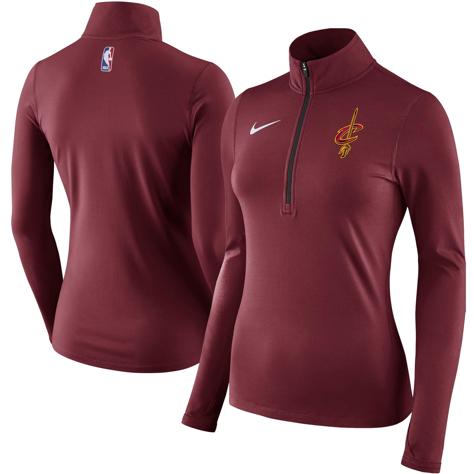 Cleveland Cavaliers Nike Women's Element Quarter-Zip Jacket - Wine