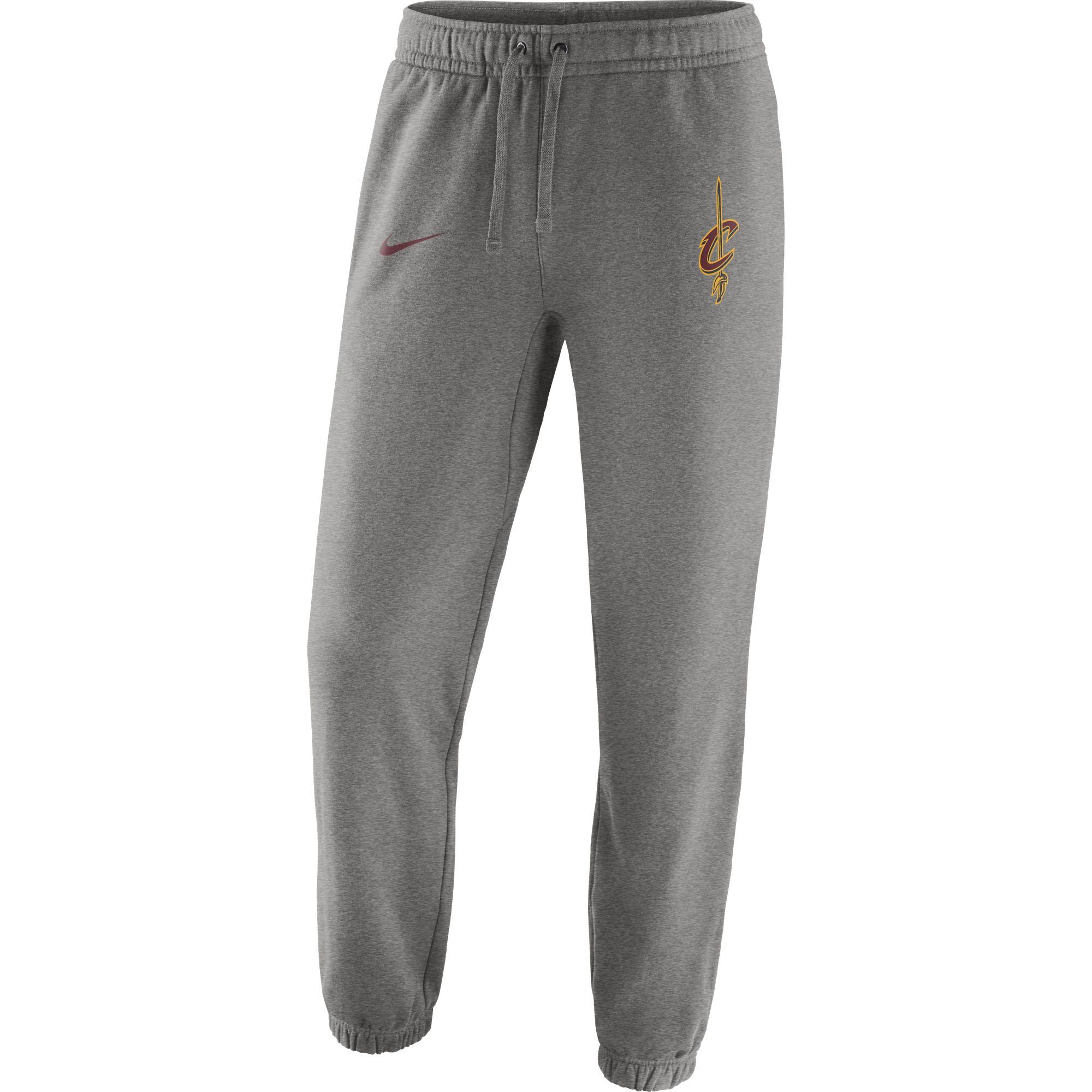 Cleveland Cavaliers Nike Club Fleece Pants - Gray