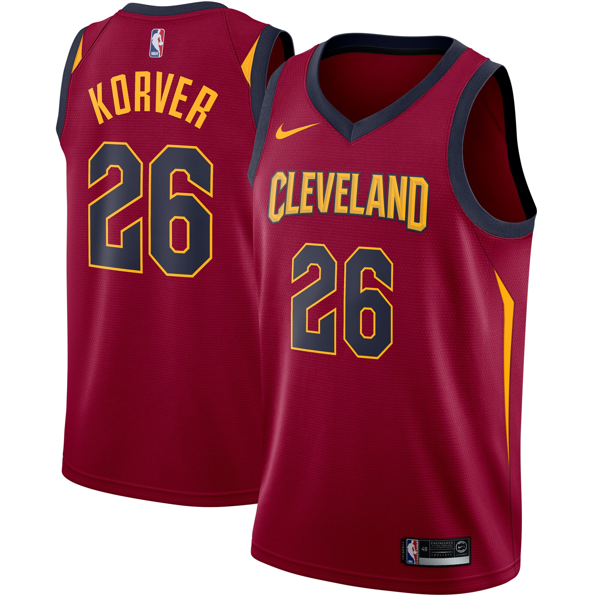 Kyle Korver Cleveland Cavaliers Nike Swingman Jersey Maroon - Icon Edition
