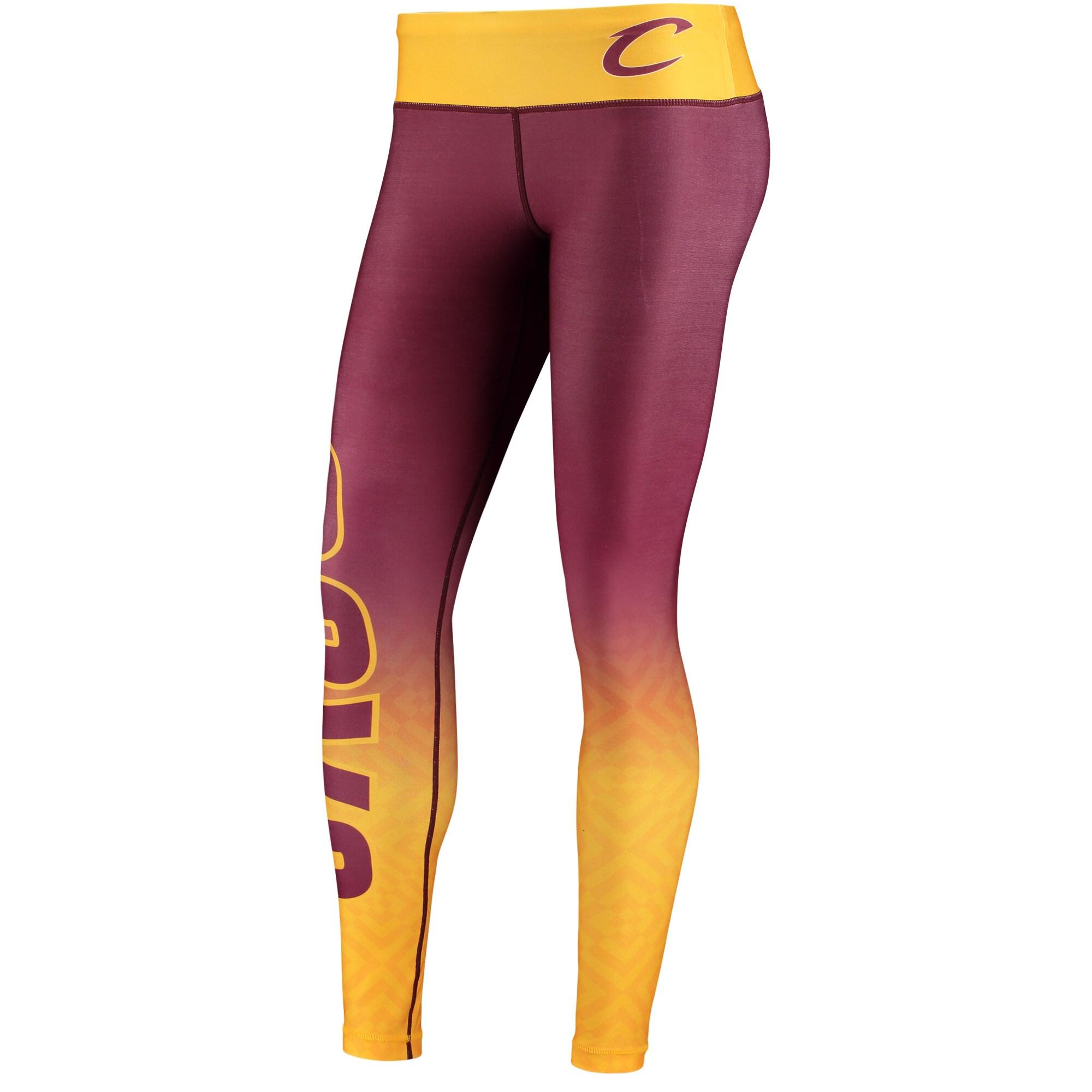 Cleveland Cavaliers Women's Gradient Leggings - Maroon