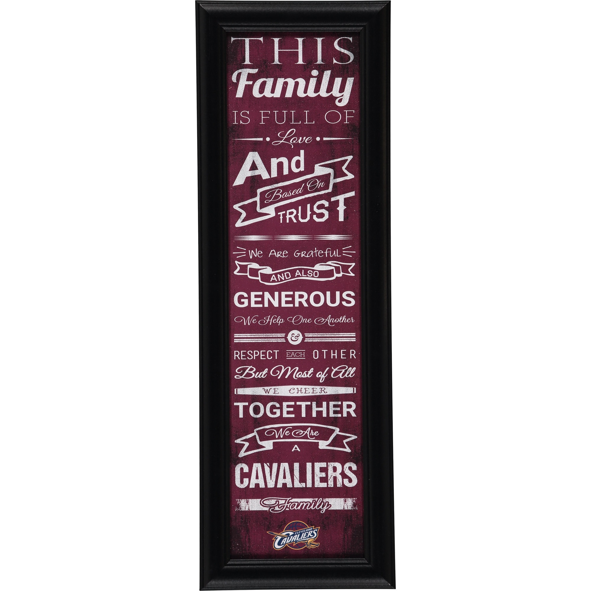 Cleveland Cavaliers Crackle Family Cheer Framed Art
