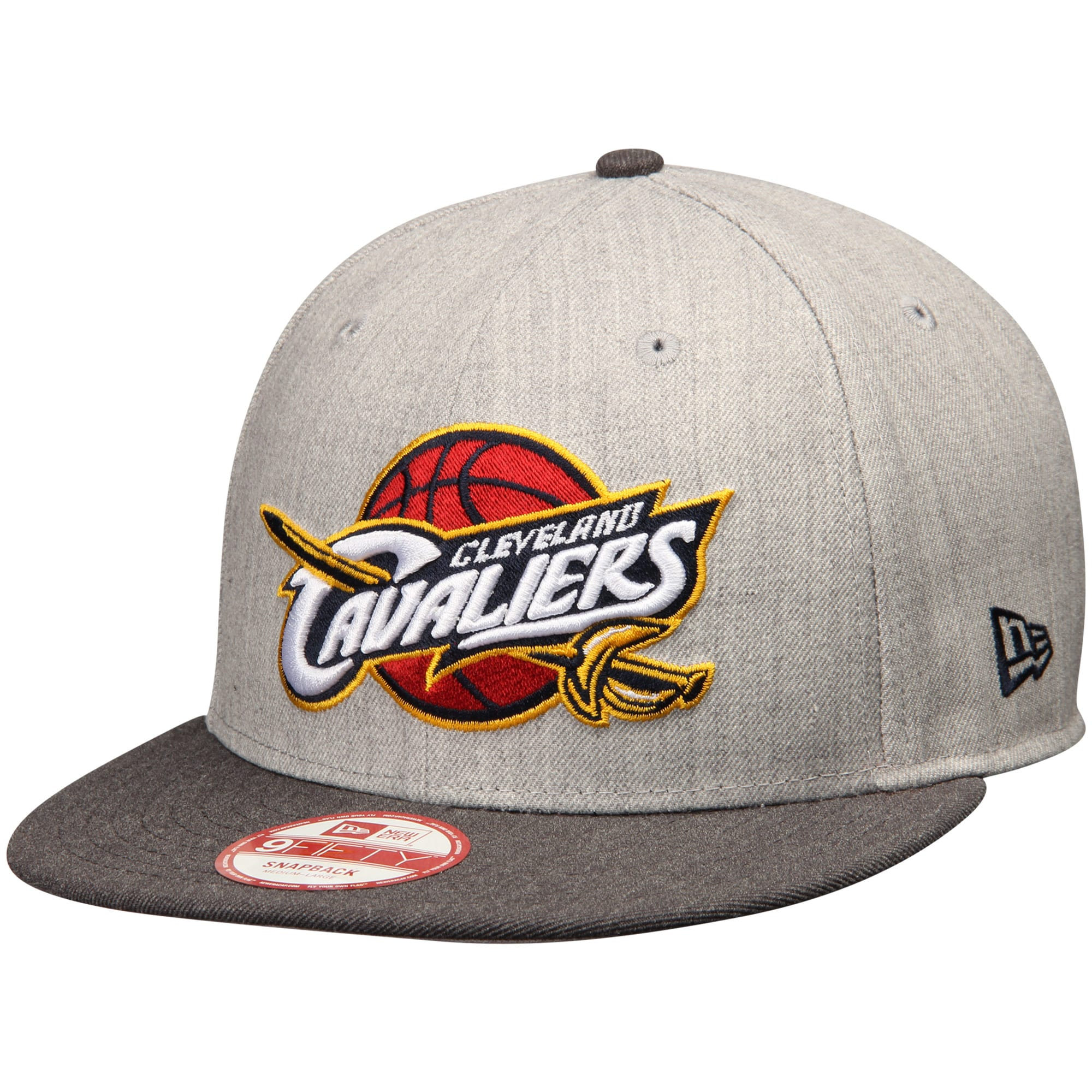 Cleveland Cavaliers New Era Action 2-Tone 9FIFTY Adjustable Hat - Heathered Gray