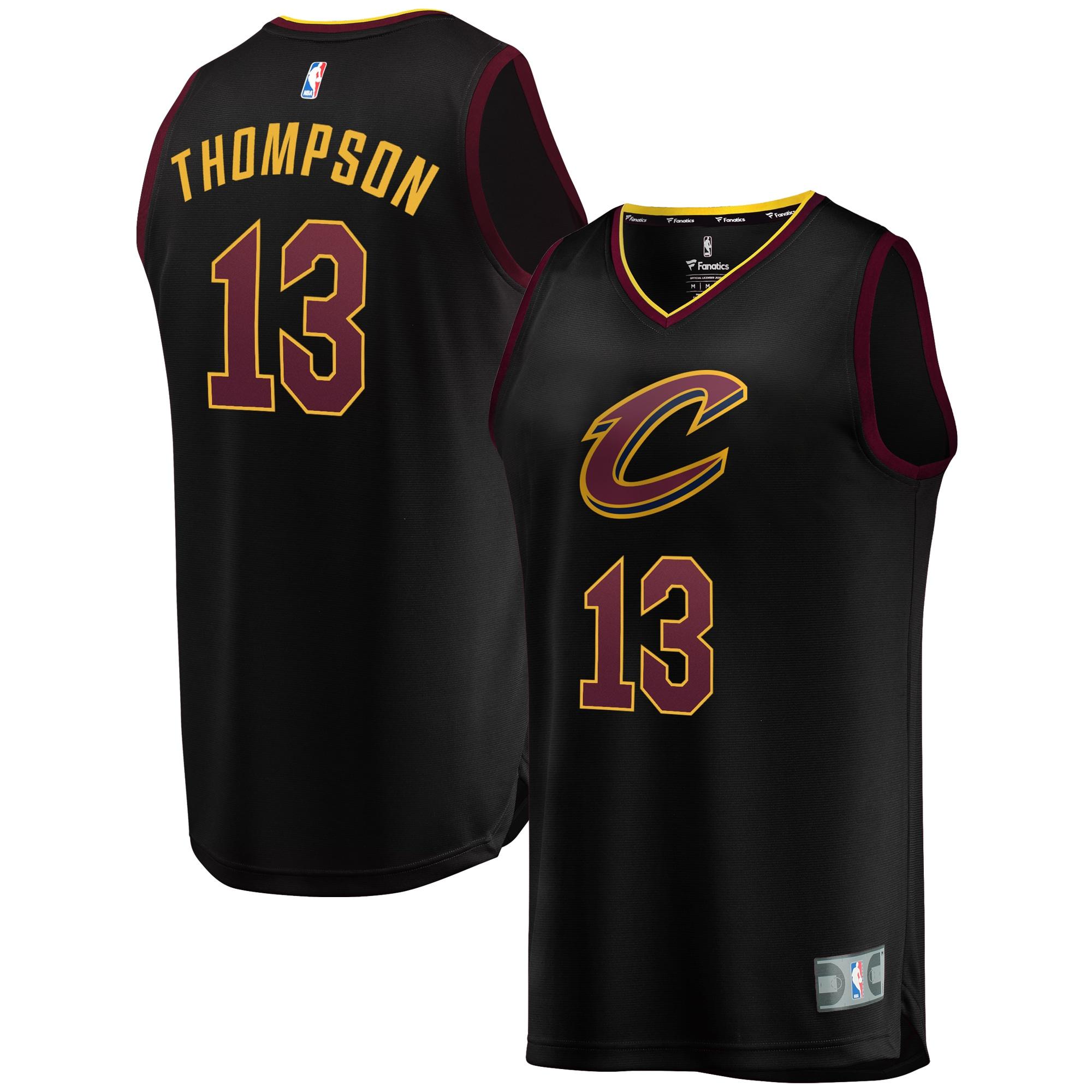Tristan Thompson Cleveland Cavaliers Fanatics Branded Fast Break Replica Jersey Black - Statement Edition