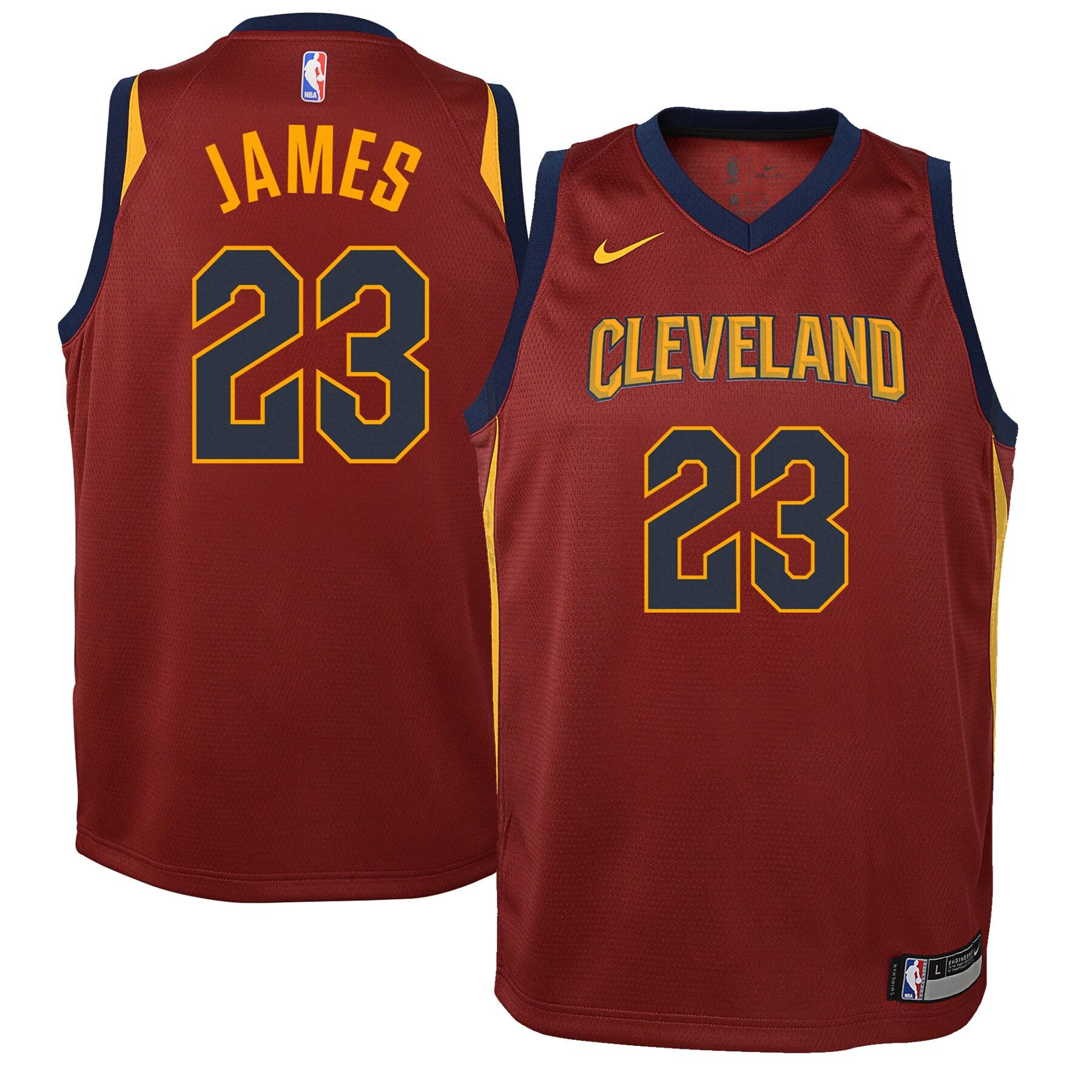 LeBron James Cleveland Cavaliers Nike Youth Swingman Jersey Maroon - Icon Edition