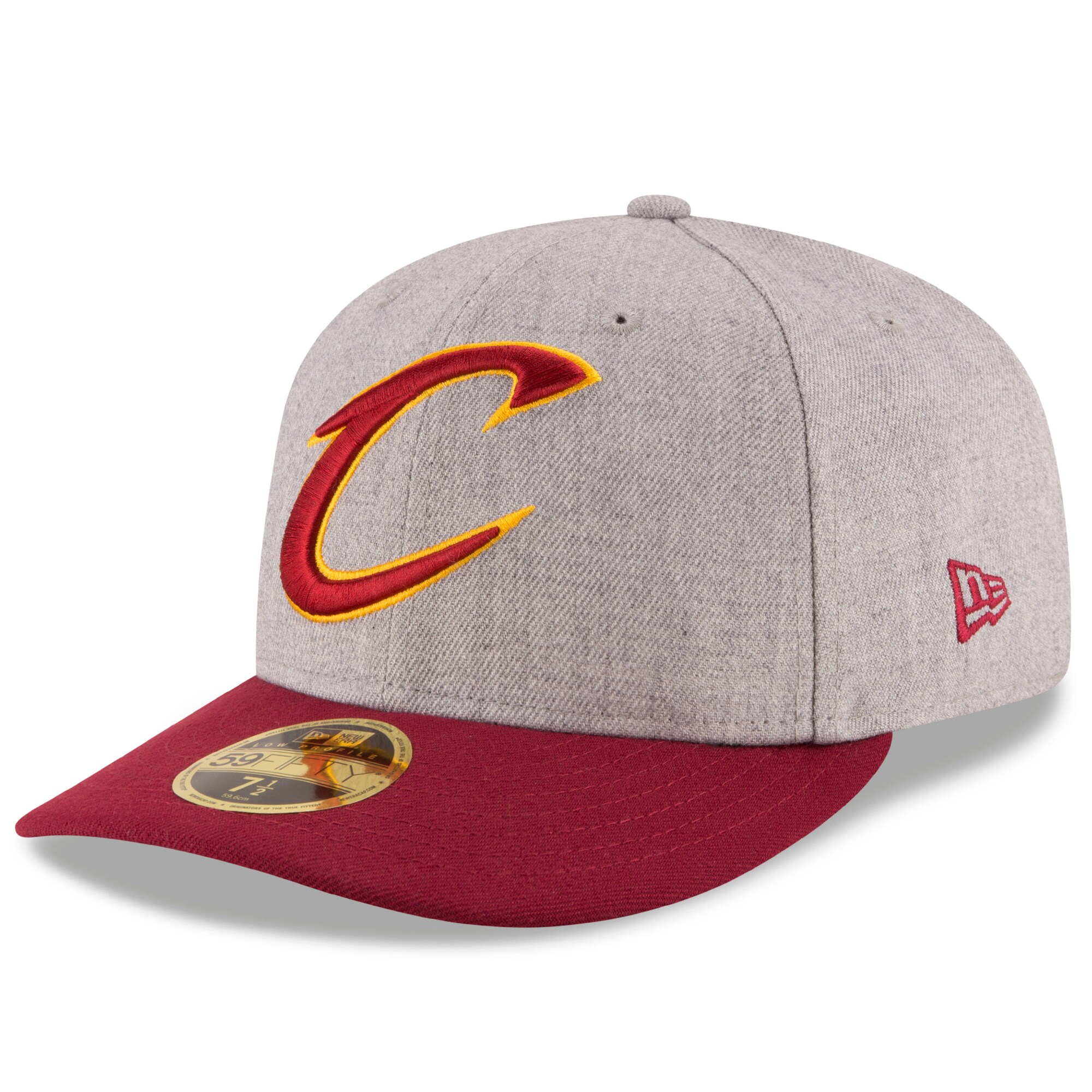 Cleveland Cavaliers New Era Current Logo Change Up Low Profile 59FIFTY Fitted Hat - Heathered Gray/Wine