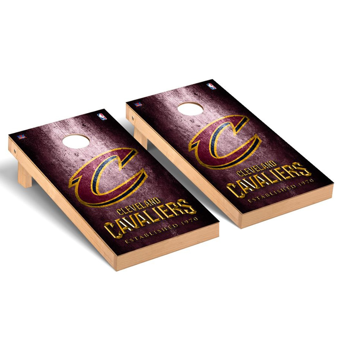 Cleveland Cavaliers 2' x 4' Metal Design Cornhole Game Set