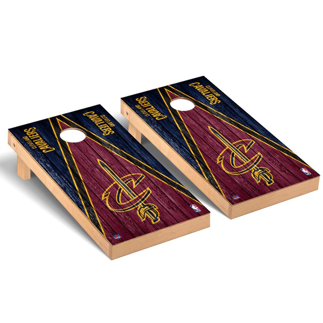 Cleveland Cavaliers 2' x 4' Weathered Cornhole Game Set