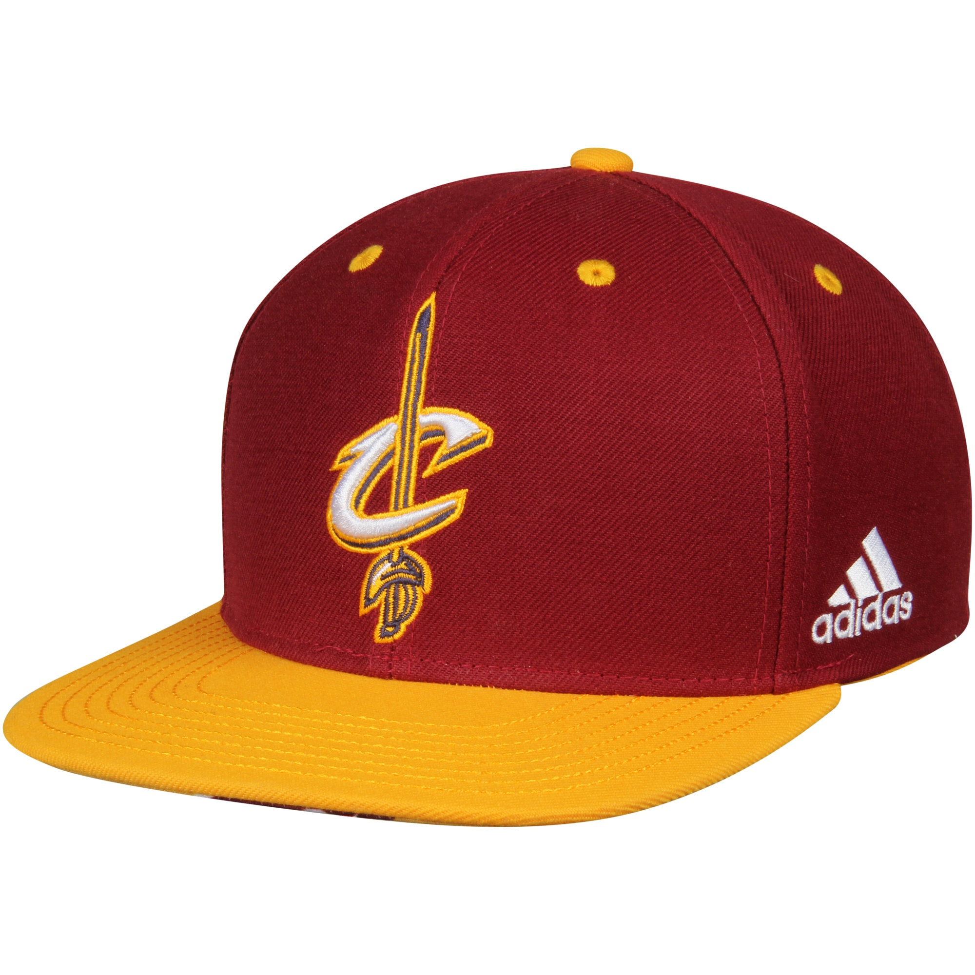 Cleveland Cavaliers adidas On-Court Adjustable Snapback Hat - Wine/Gold