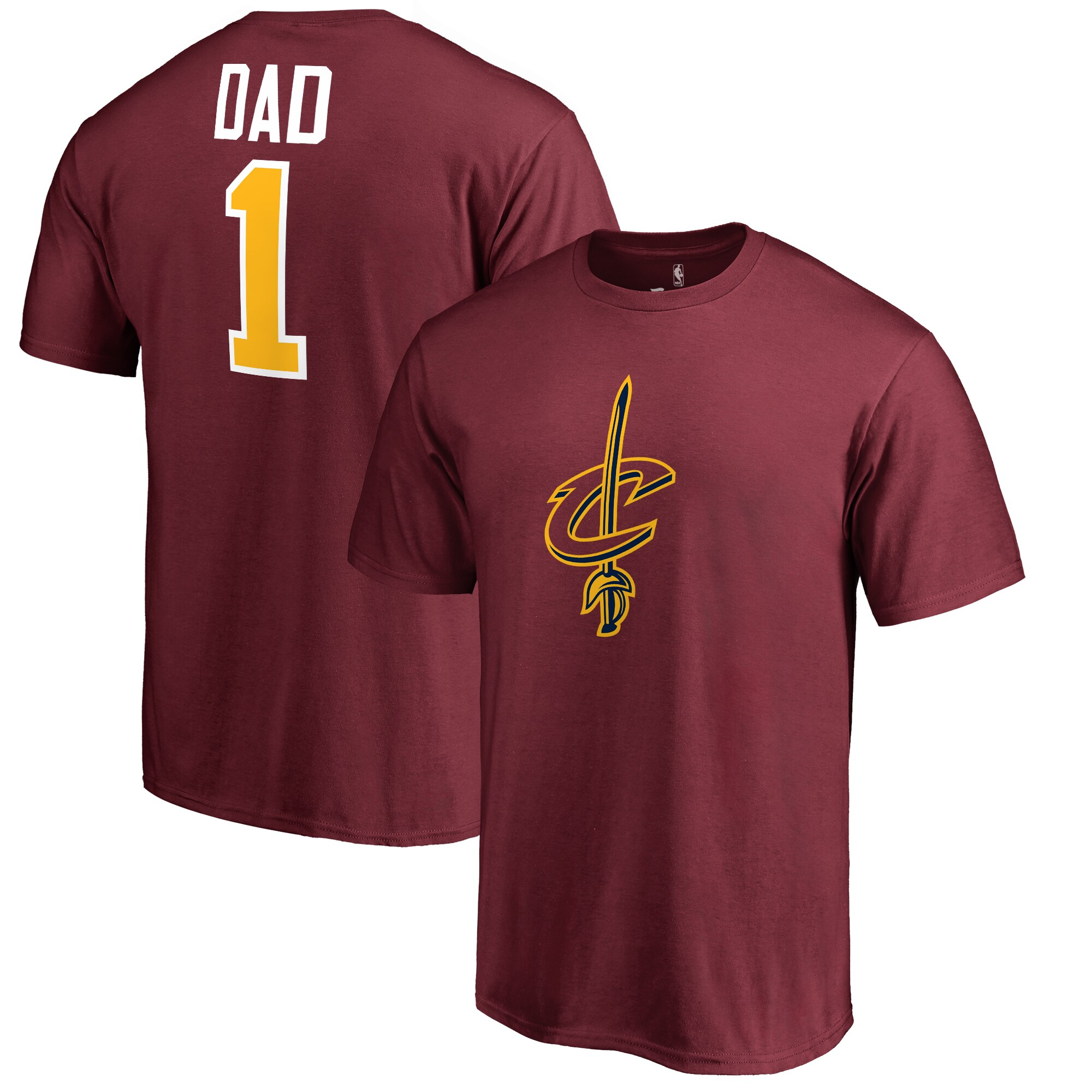 Cleveland Cavaliers #1 Dad T-Shirt - Wine