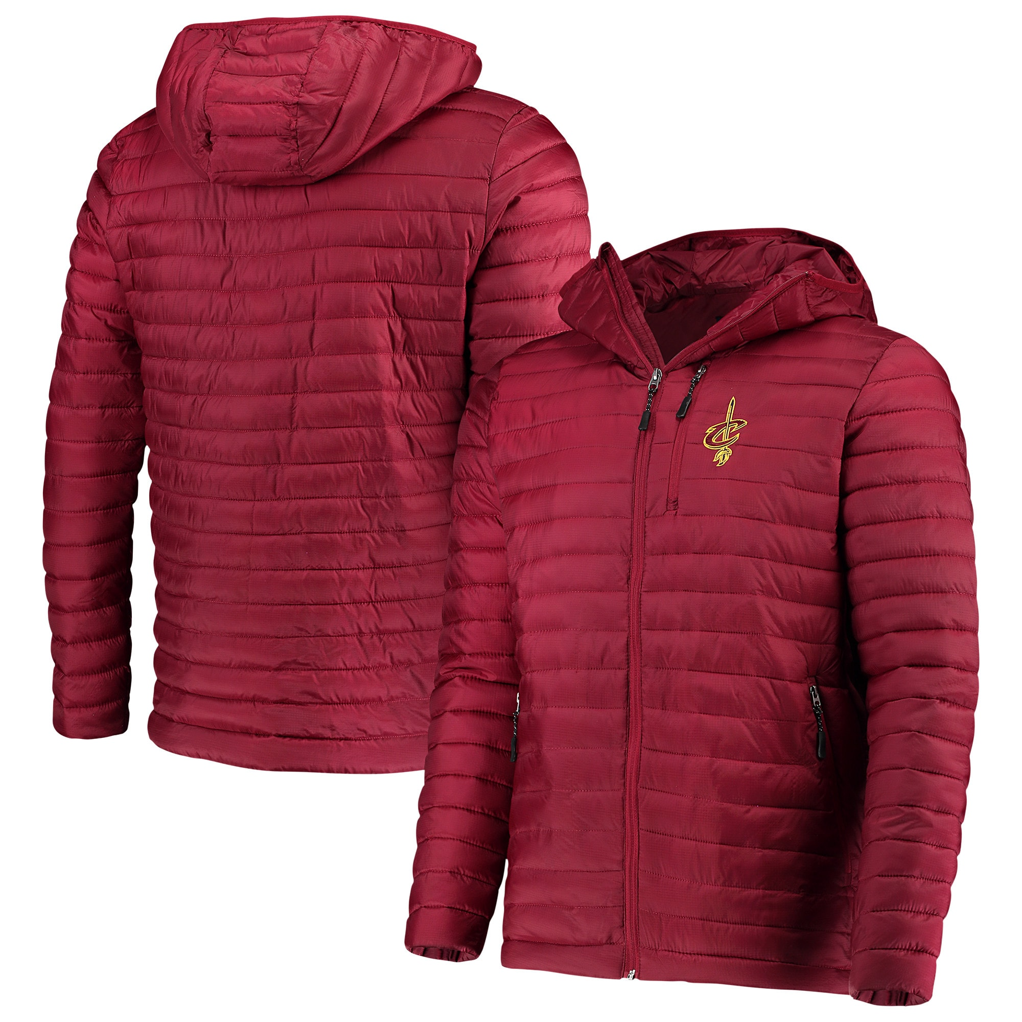 Cleveland Cavaliers G-III Sports by Carl Banks Equator Quilted Performance Full Zip Jacket - Wine