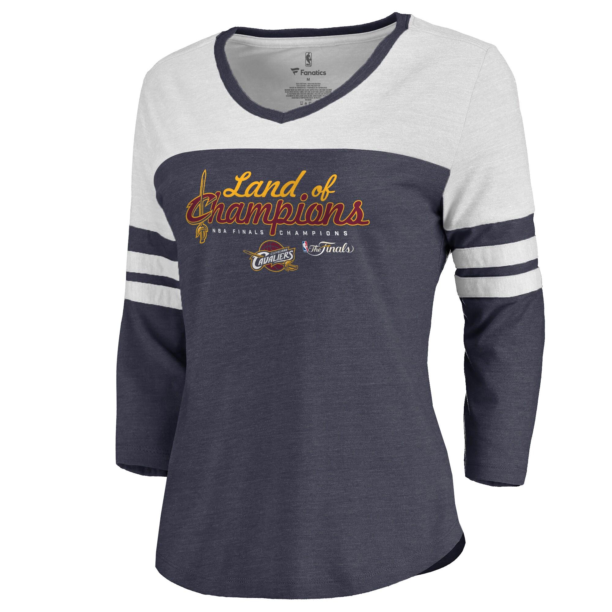 Cleveland Cavaliers Women's 2016 NBA Finals Champions Tri-Blend Raglan Long Sleeve T-Shirt - Navy