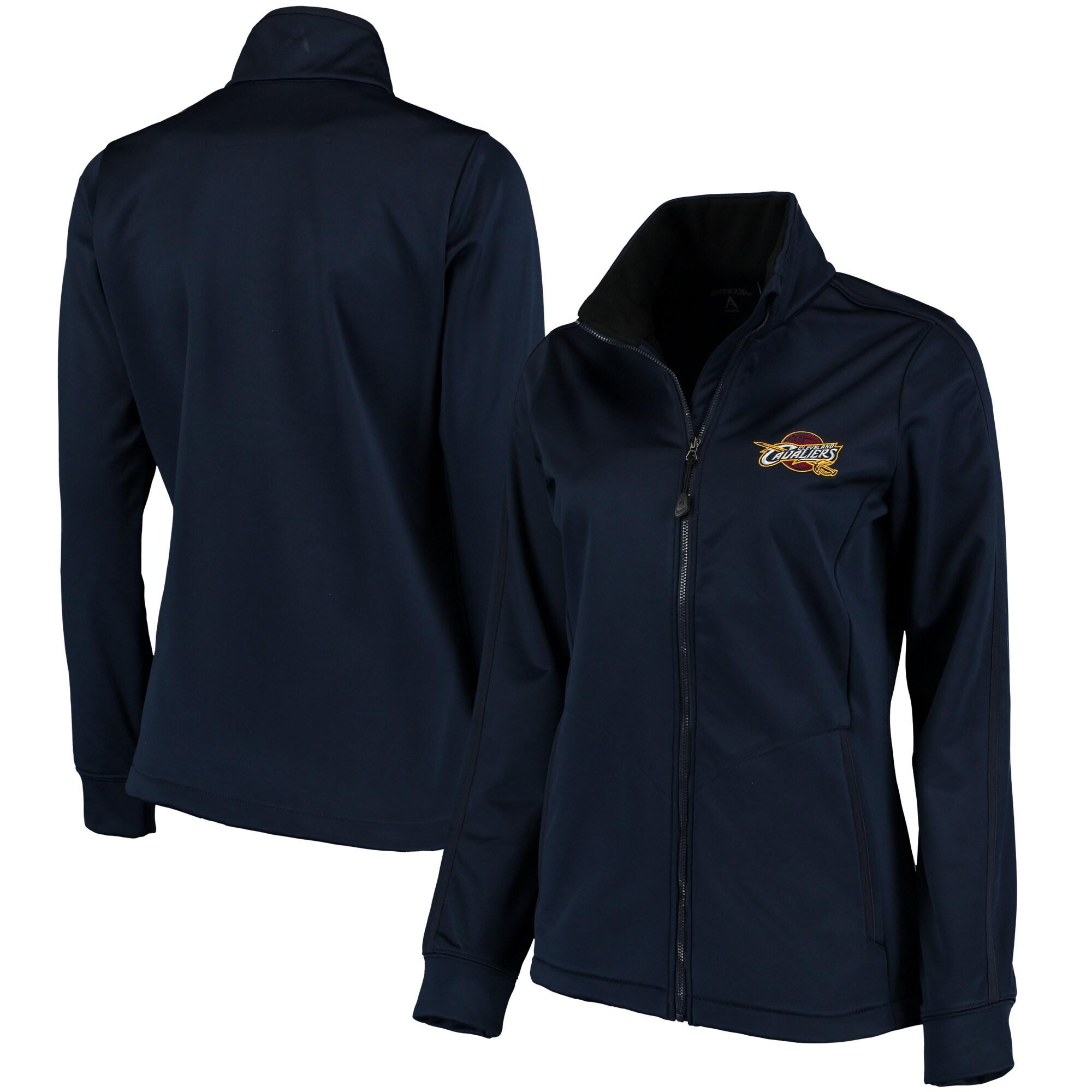 Cleveland Cavaliers Antigua Women's Golf Full-Zip Jacket - Heathered Navy