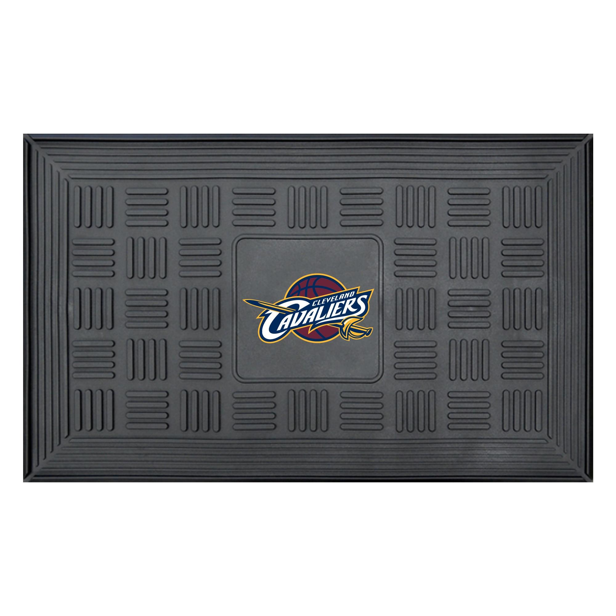 """Cleveland Cavaliers 19"""" x 30"""" Vinyl Medallion Door Mat - Black"""