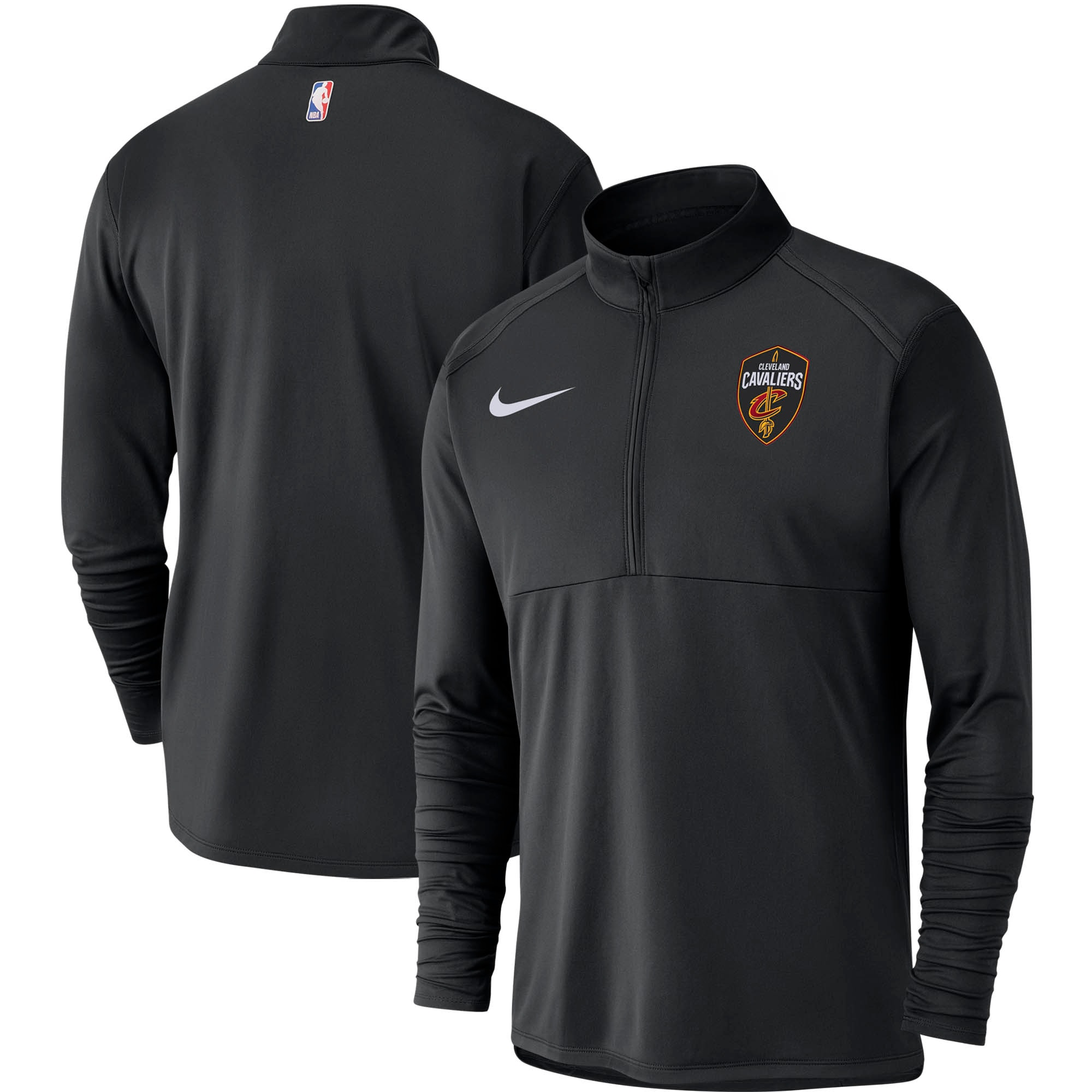 Cleveland Cavaliers Nike Element Performance Half-Zip Pullover Jacket - Black