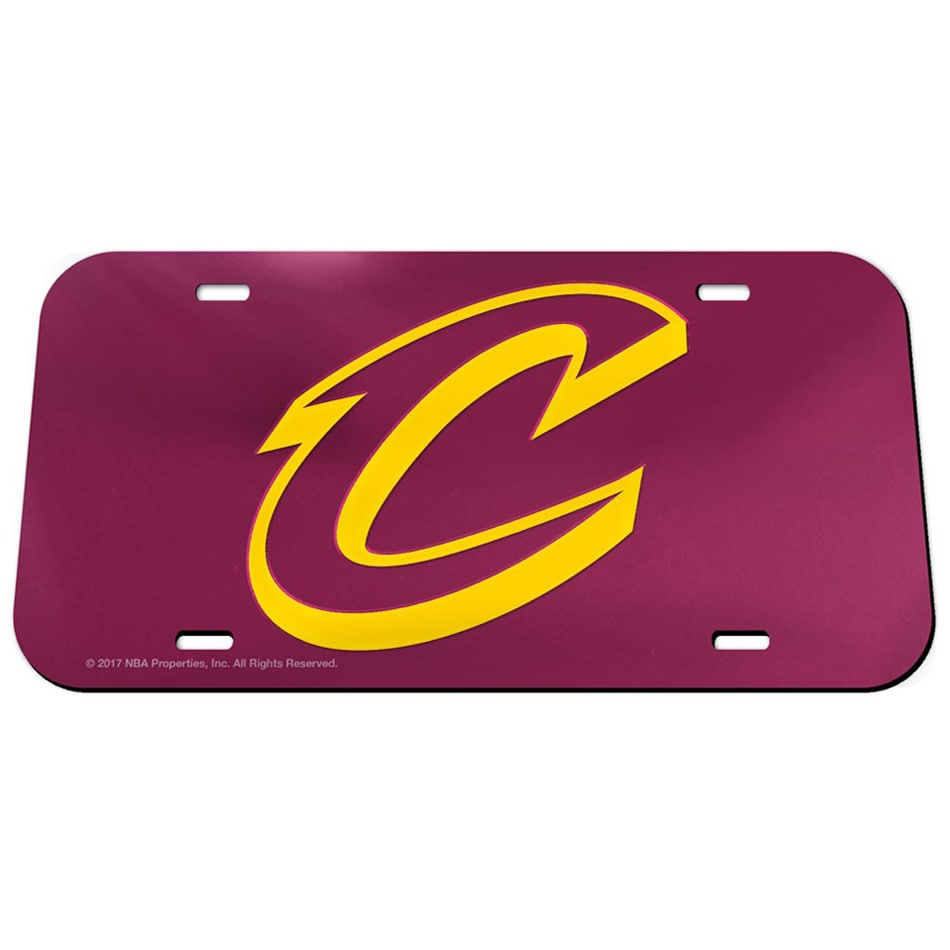 Cleveland Cavaliers WinCraft Crystal Mirror License Plate Tag
