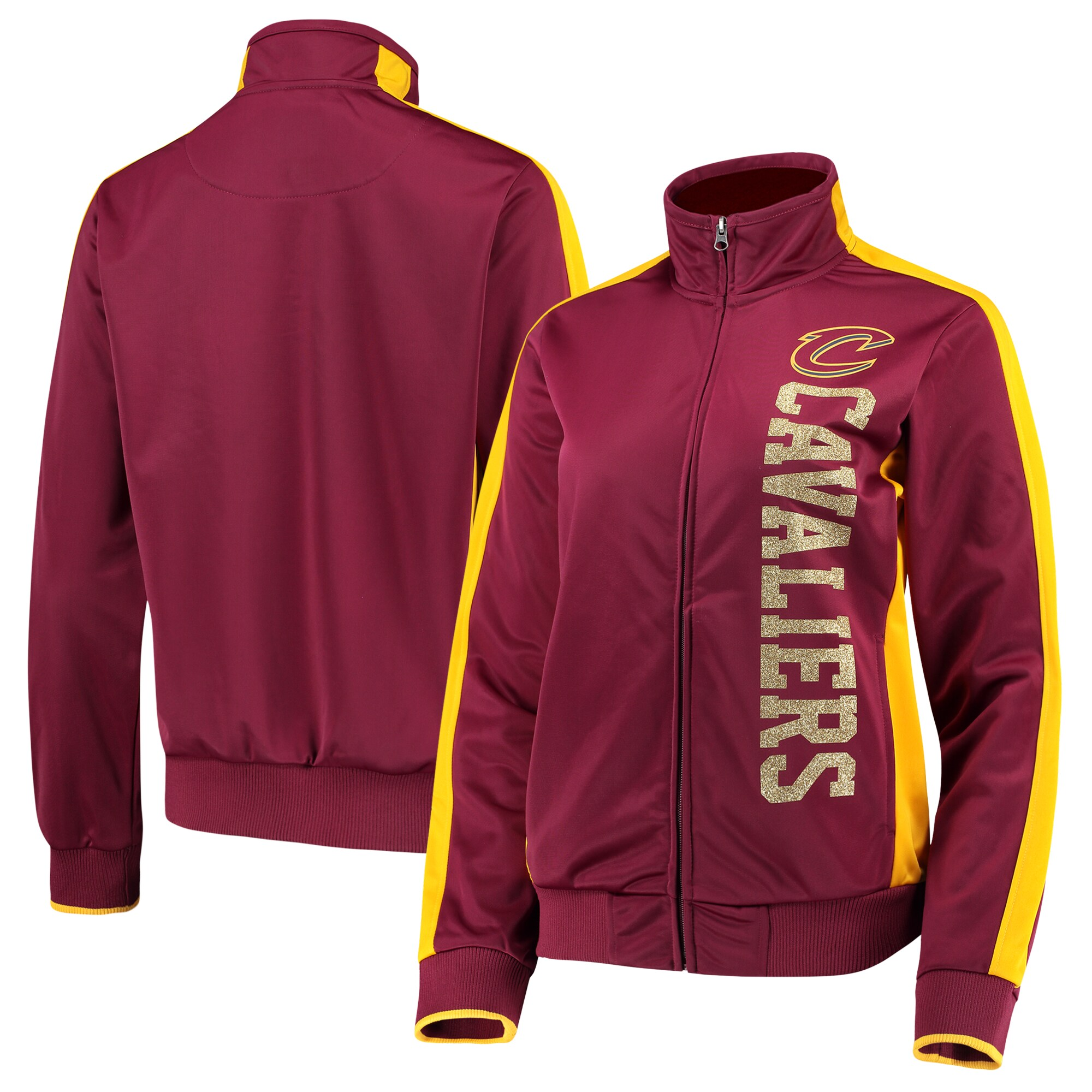 Cleveland Cavaliers G-III 4Her by Carl Banks Women's Drop Back Full-Zip Track Jacket - Wine