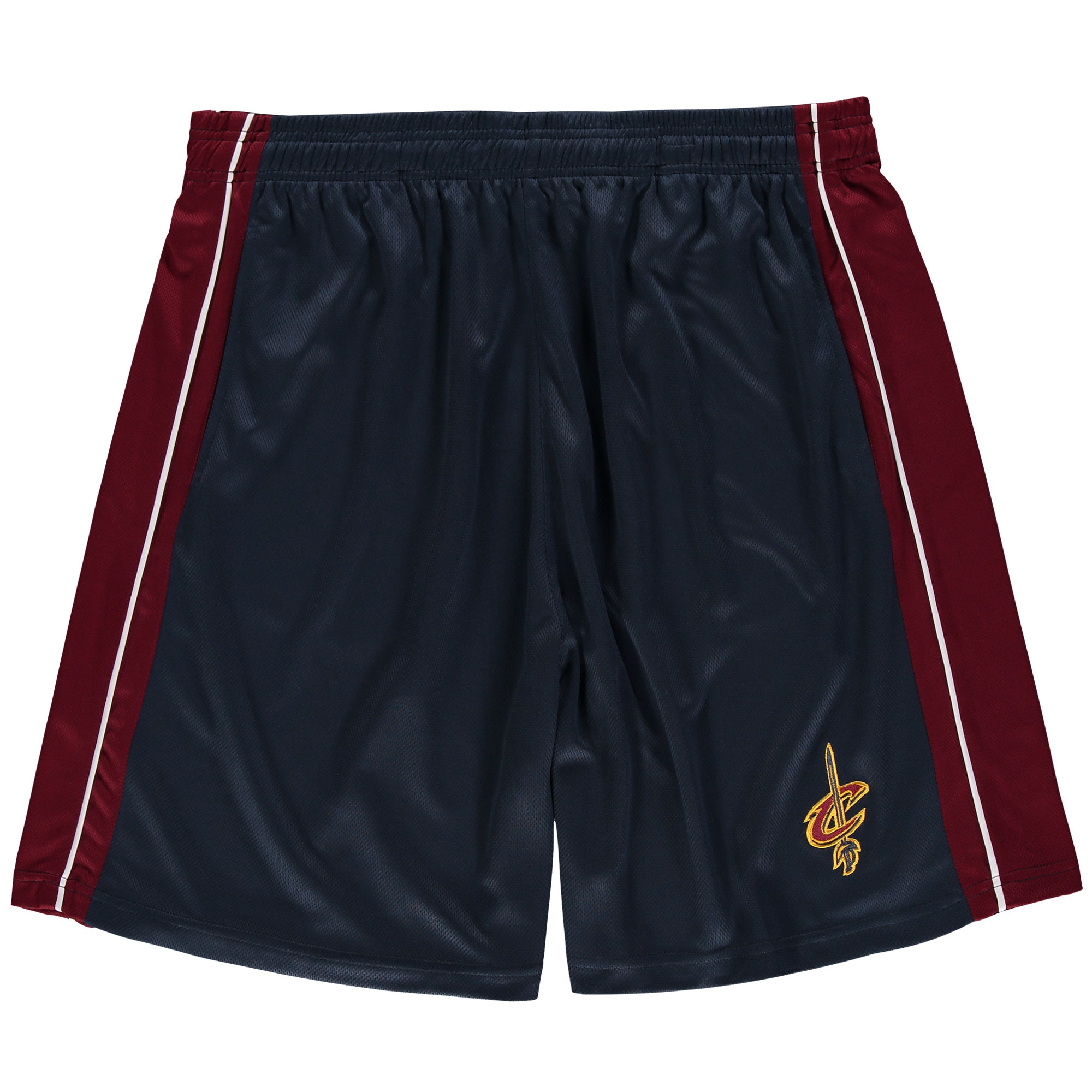 Cleveland Cavaliers Majestic Big & Tall Birdseye Shorts - Navy/Wine