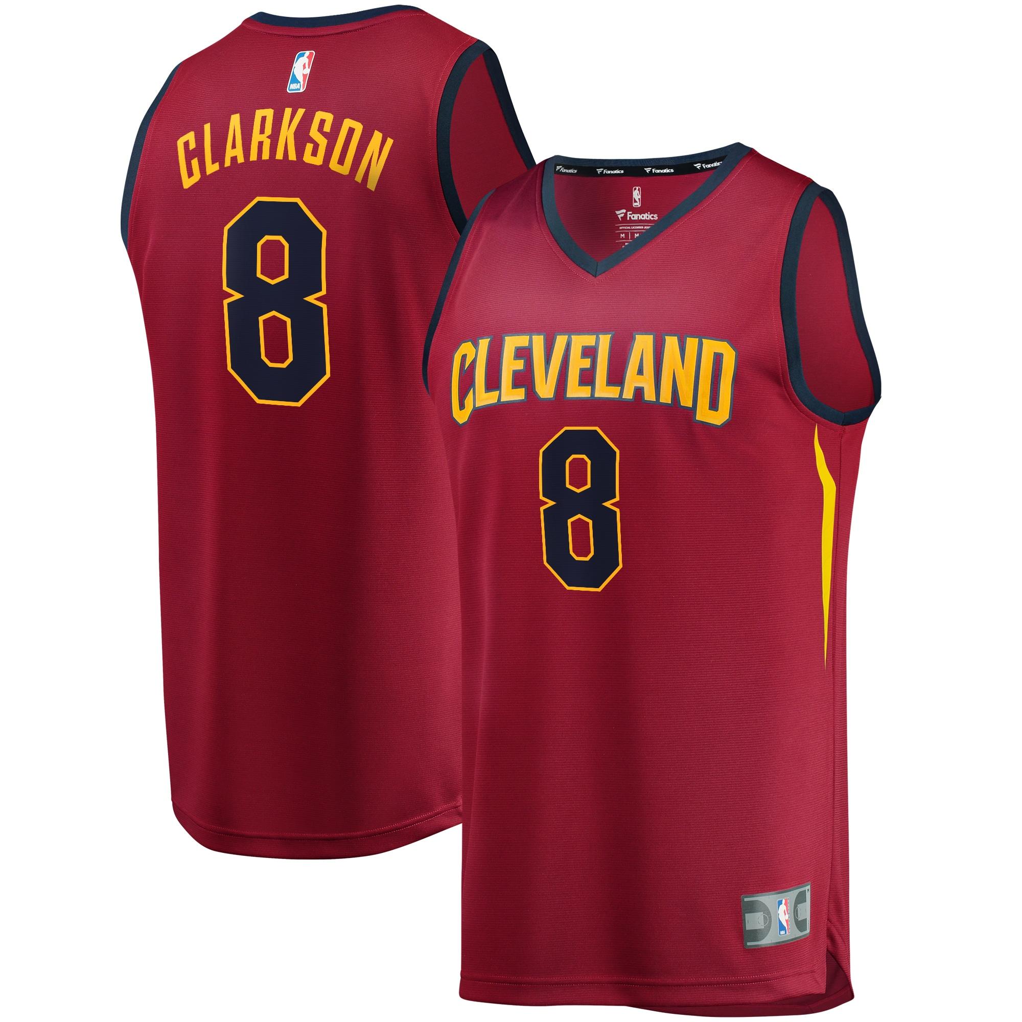 Jordan Clarkson Cleveland Cavaliers Fanatics Branded Fast Break Replica Jersey Wine - Icon Edition